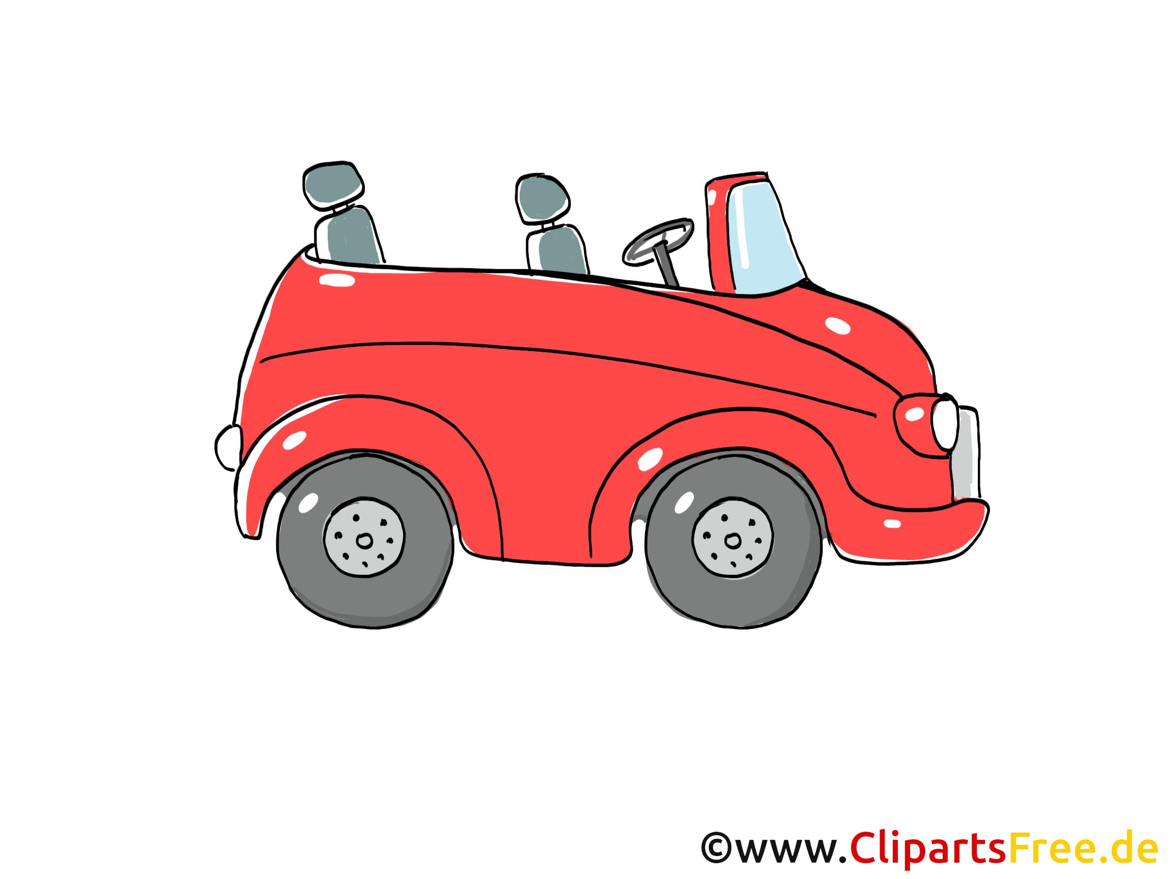 Cabriolet clip arts gratuits illustrations