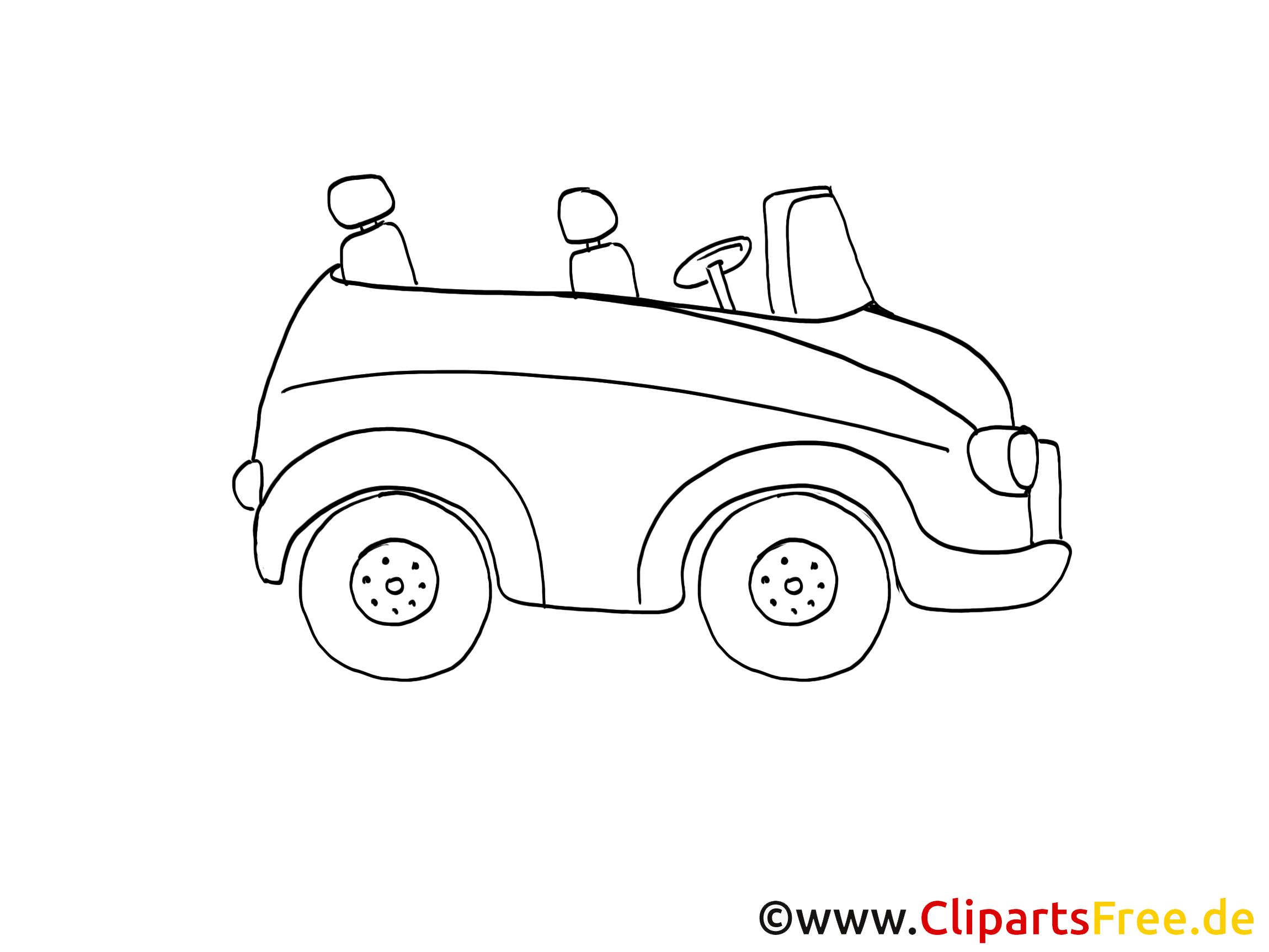 Cabriolet coloriage - Voiture clip art gratuit