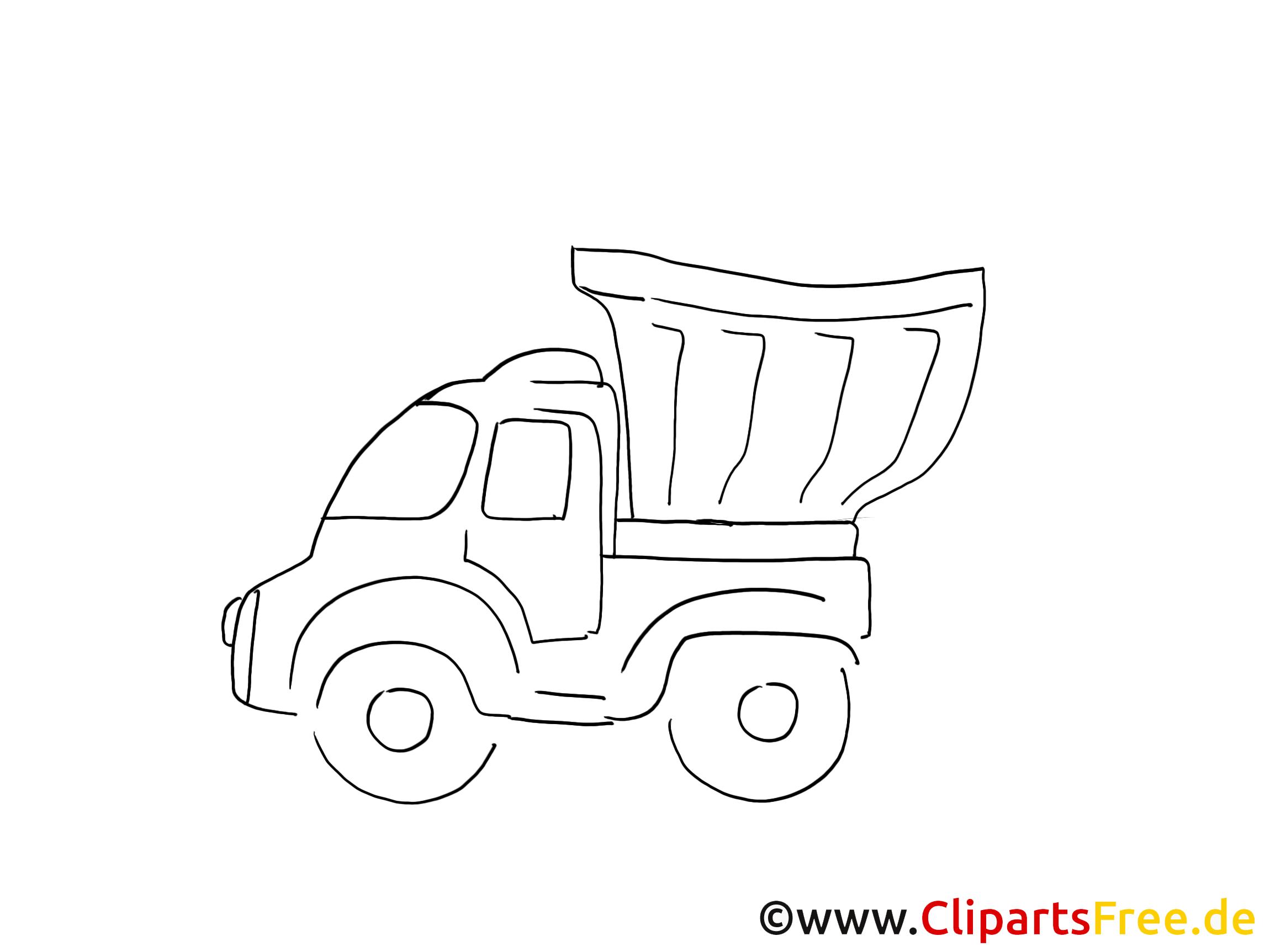 Camion-déchargeur image gratuite à colorier
