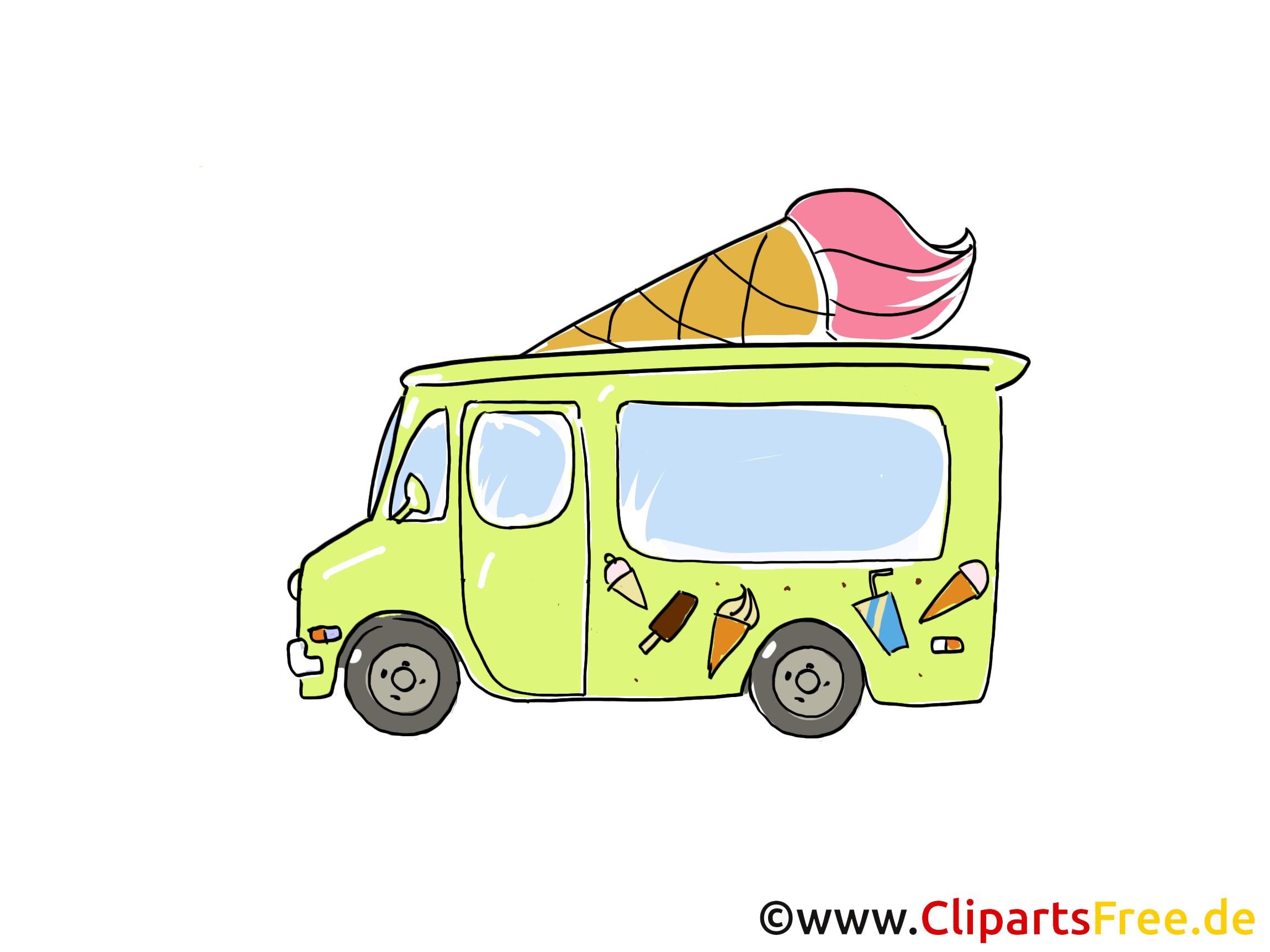 Camion de crème glacée clipart gratuit dessins