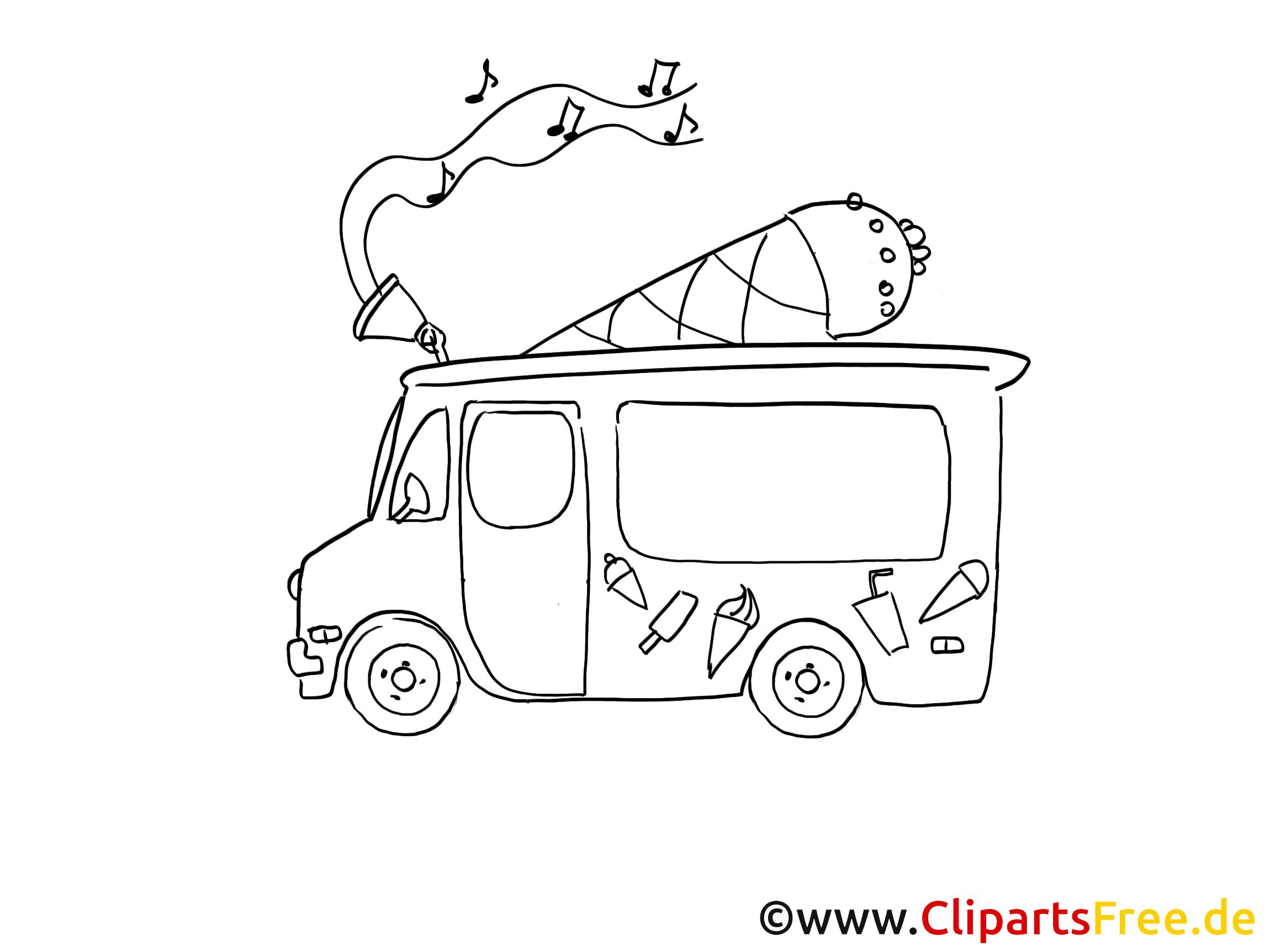 Camion de crème glacée dessins à imprimer