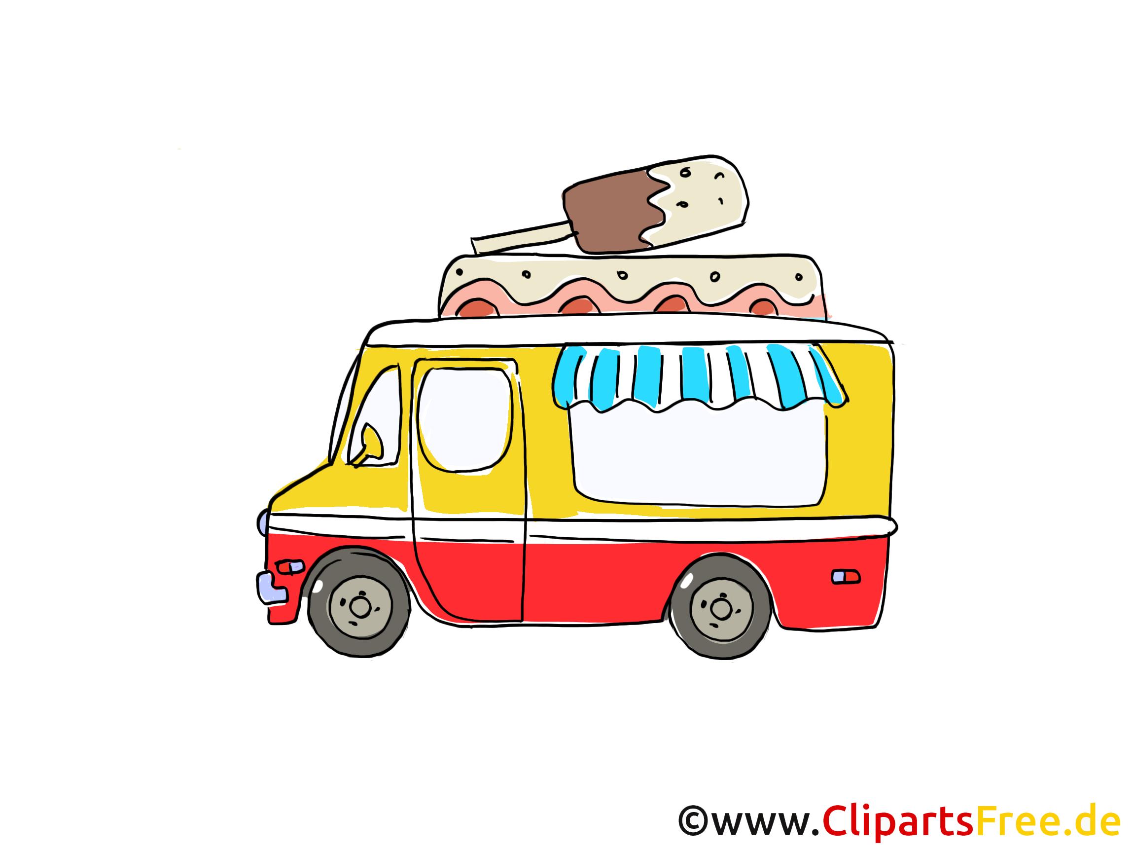Camion de crème glacée dessins gratuits