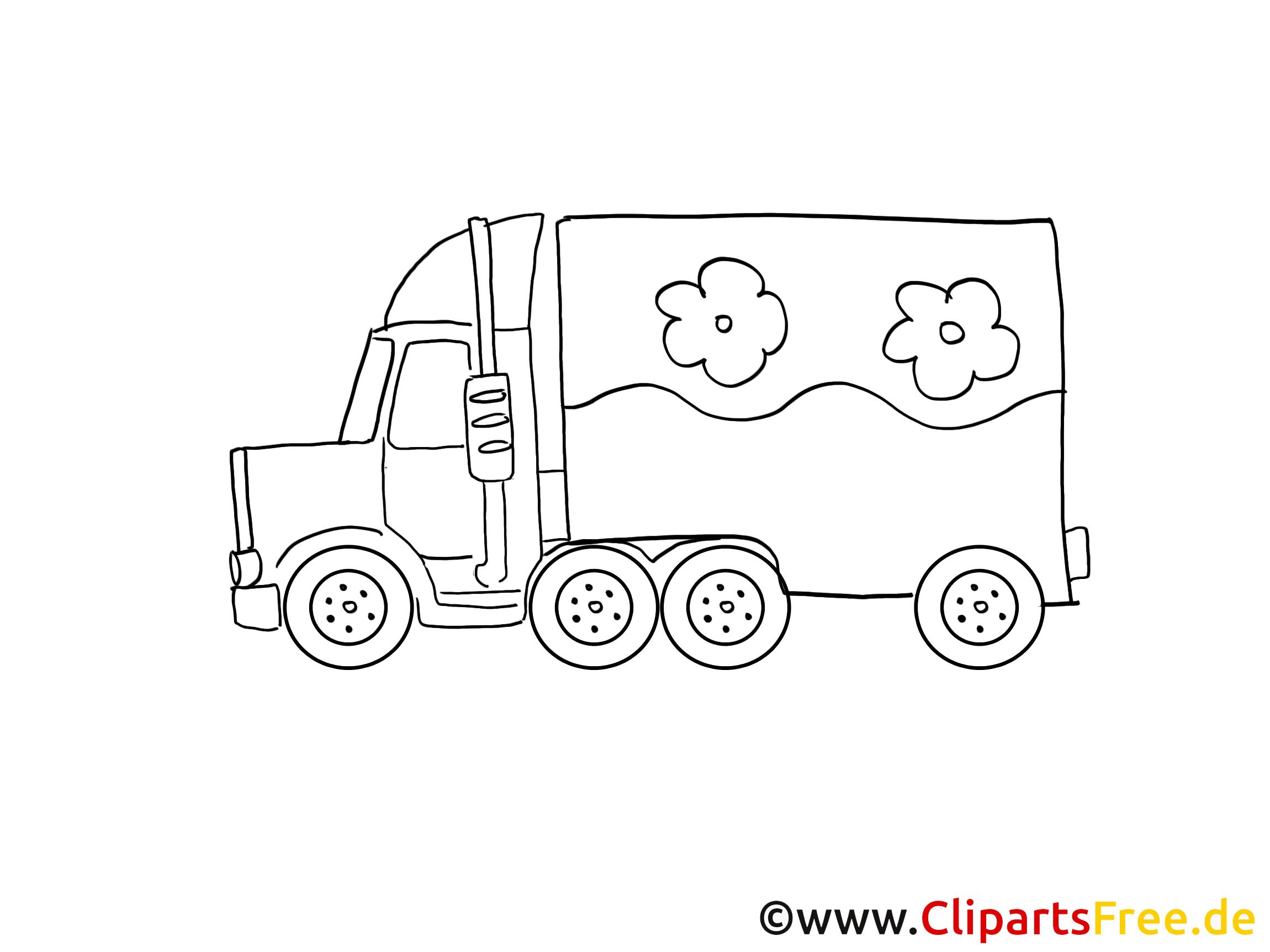 Camion image gratuite à imprimer