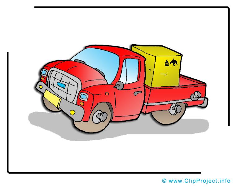 Camionnette clip art gratuit - charge à télécharger