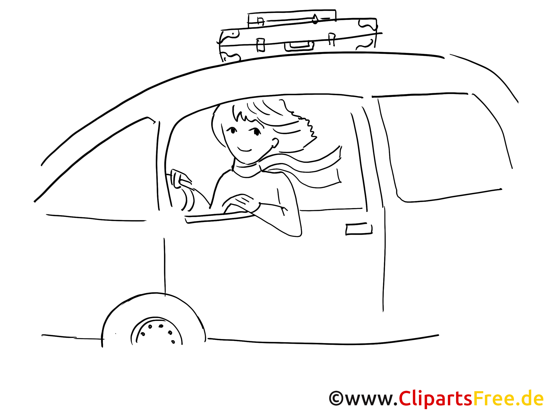 Femme en voiture clipart gratuit à télécharger