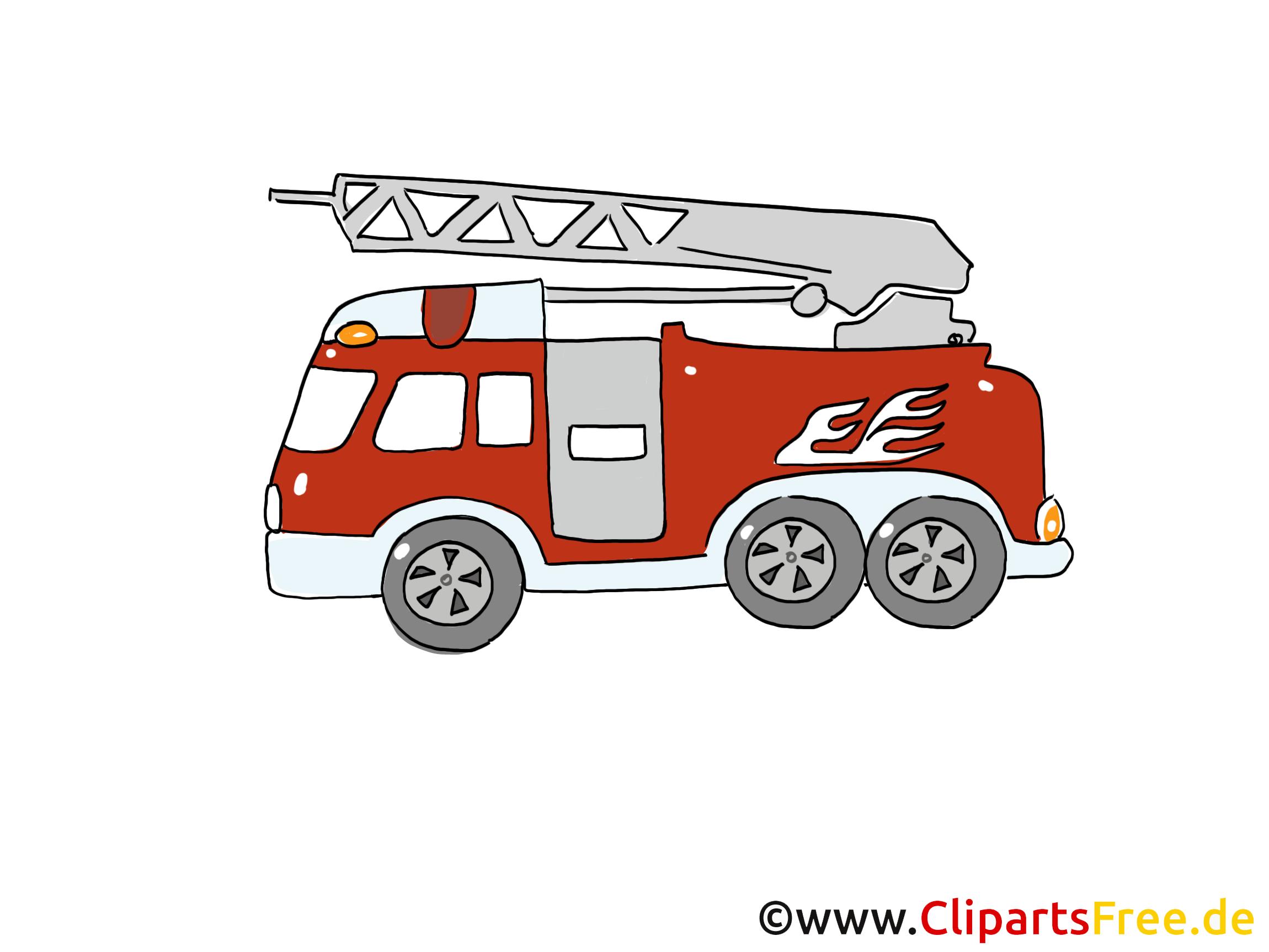 Voiture de pompier image gratuite illustration