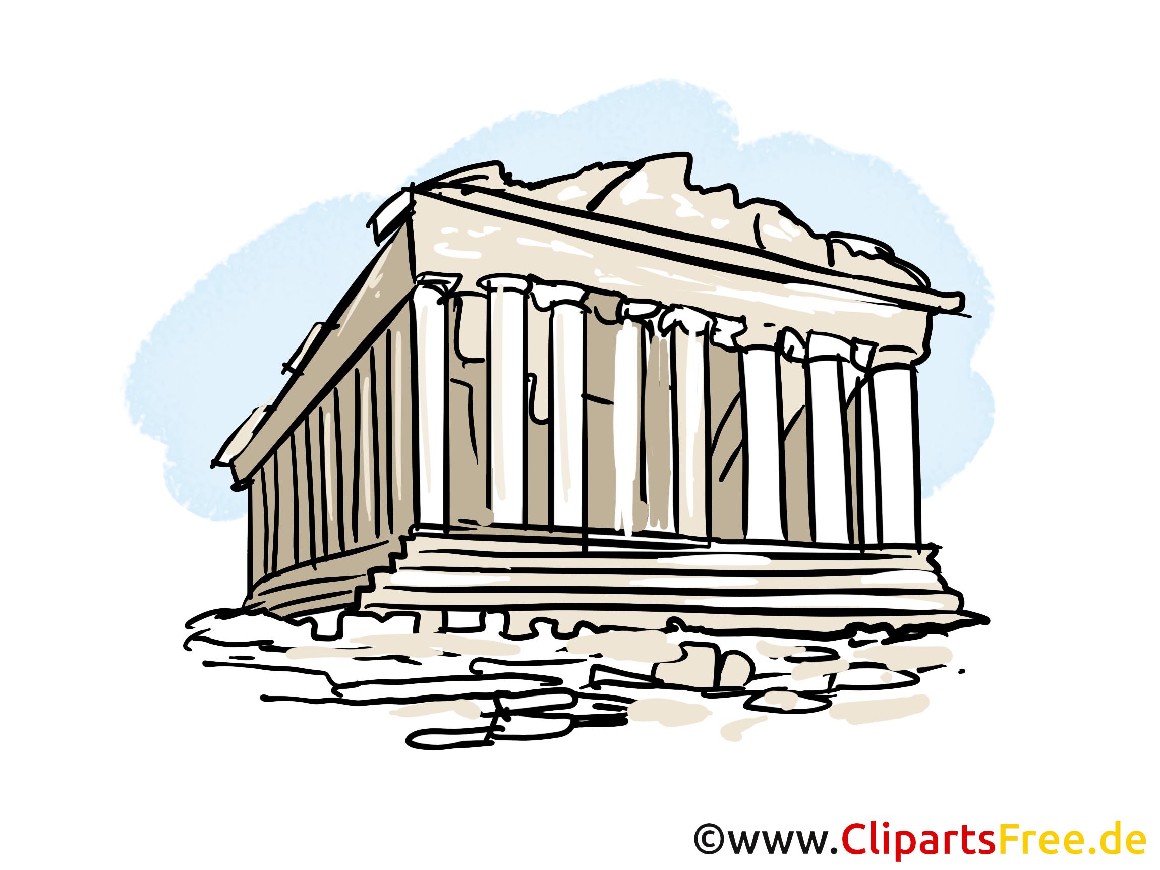 Acropole cliparts gratuis - Temple images gratuites