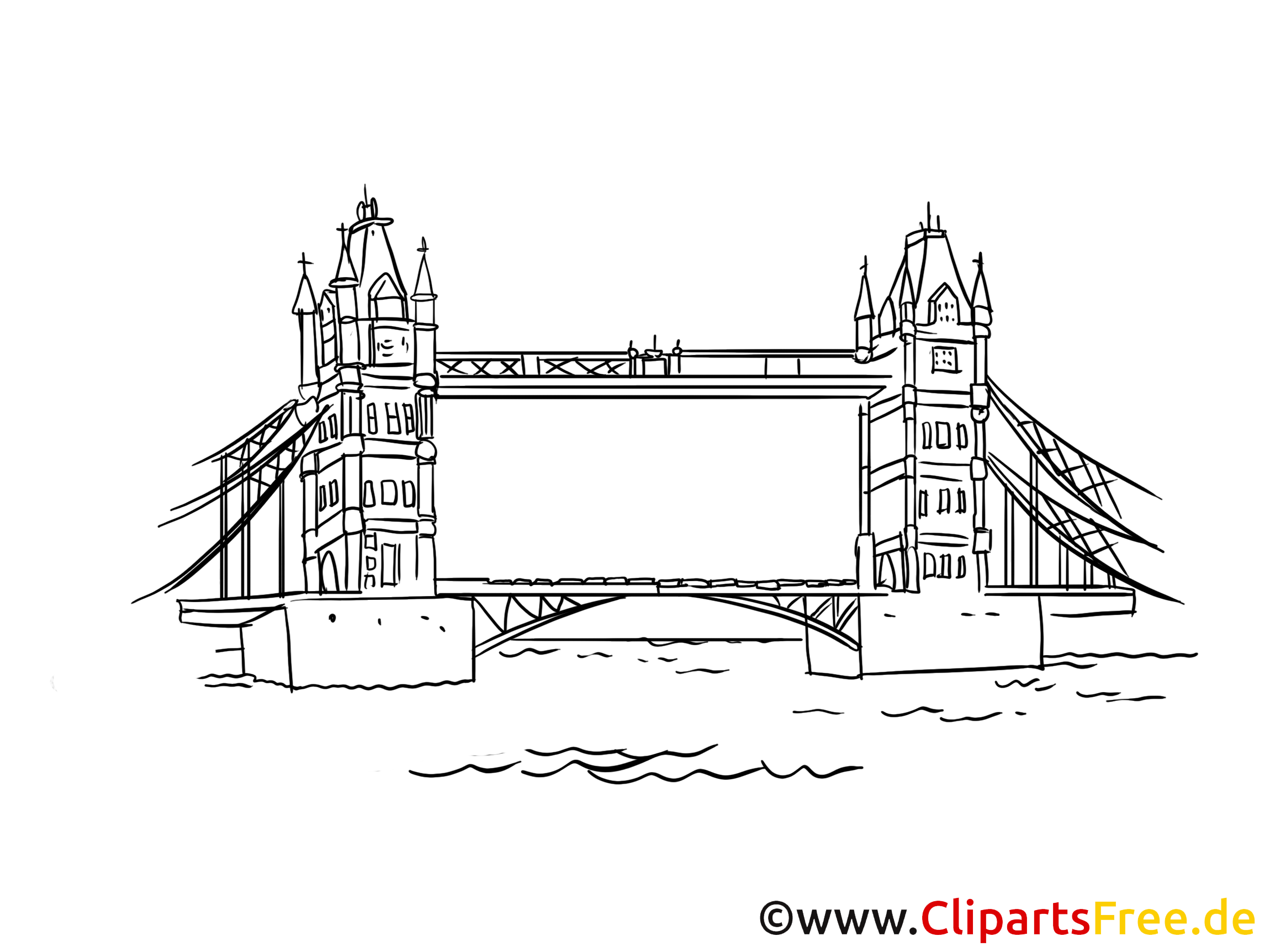Angleterre images - Tower bridge clip art gratuit