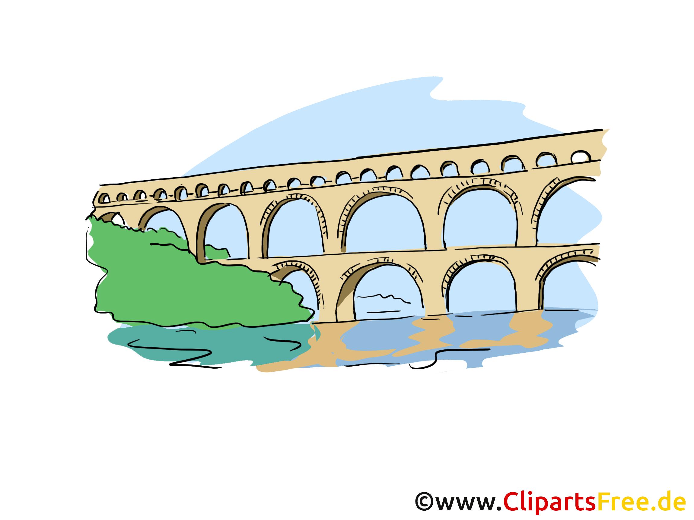 Aqueduc dessin gratuit- Pont clip arts gratuits