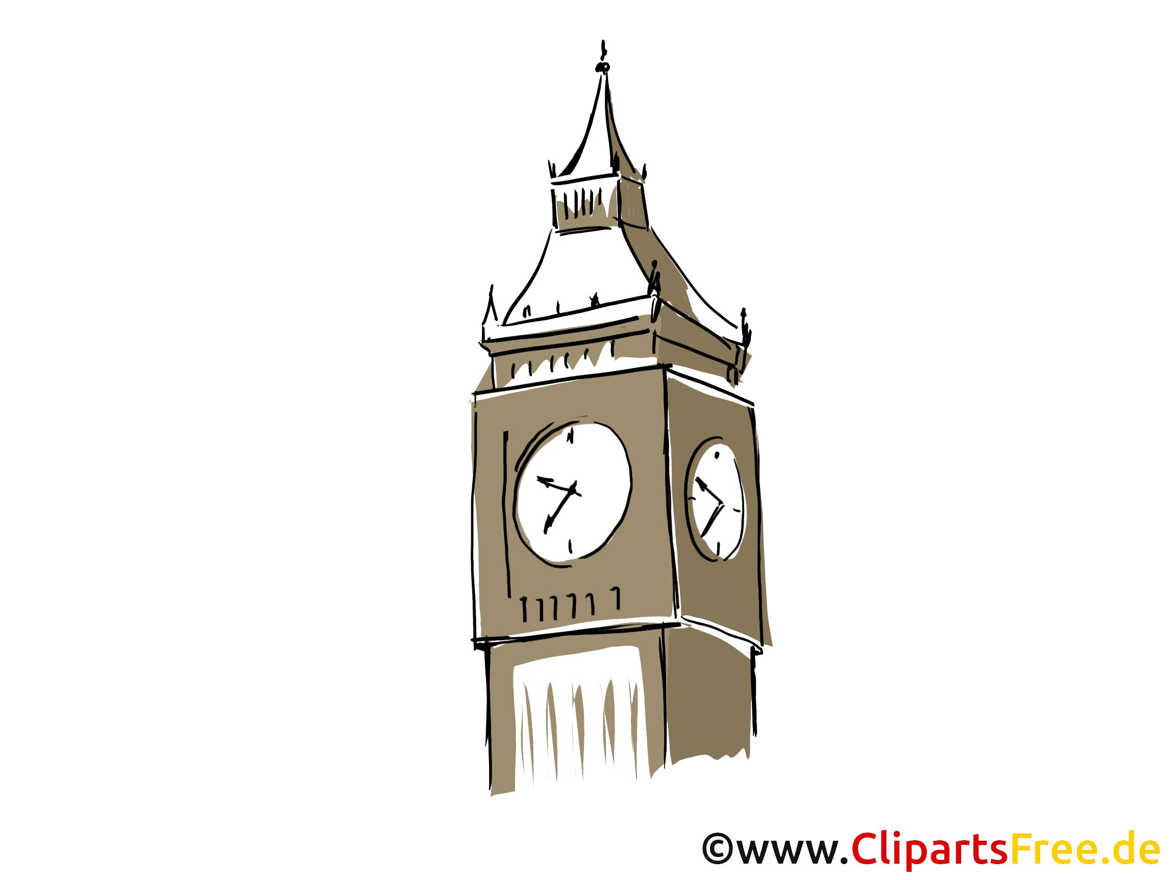Big Ben dessin à télécharger - Londres images