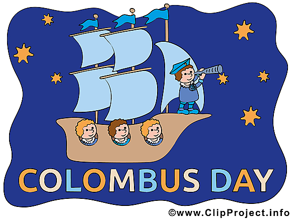 Carte jolie Christophe - Jour de Colomb clipart