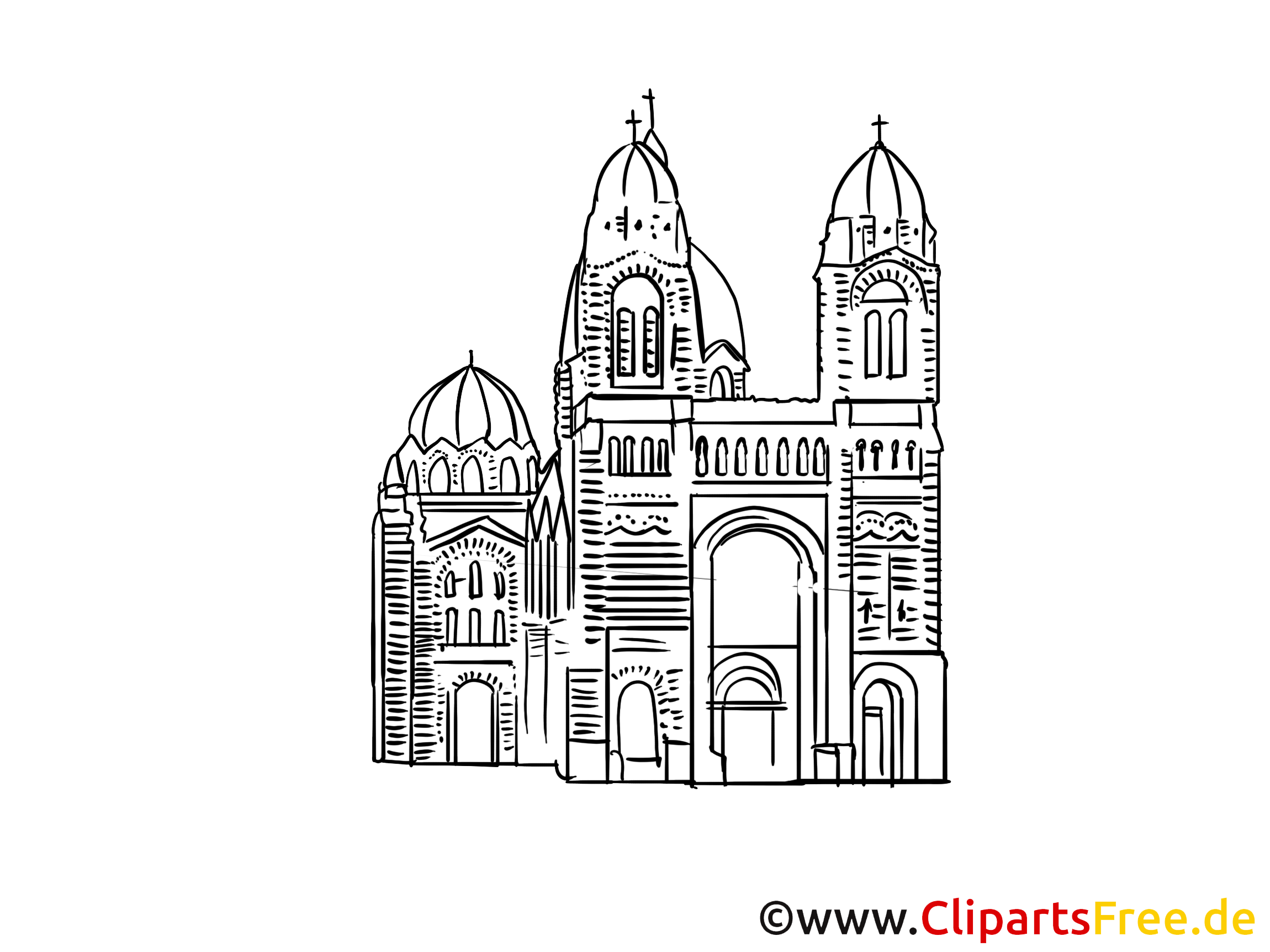 Cathédrale dessin gratuit à télécharger