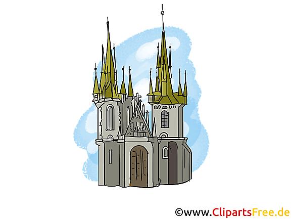 Cathédrale gothique clip art  gratuit à télécharger