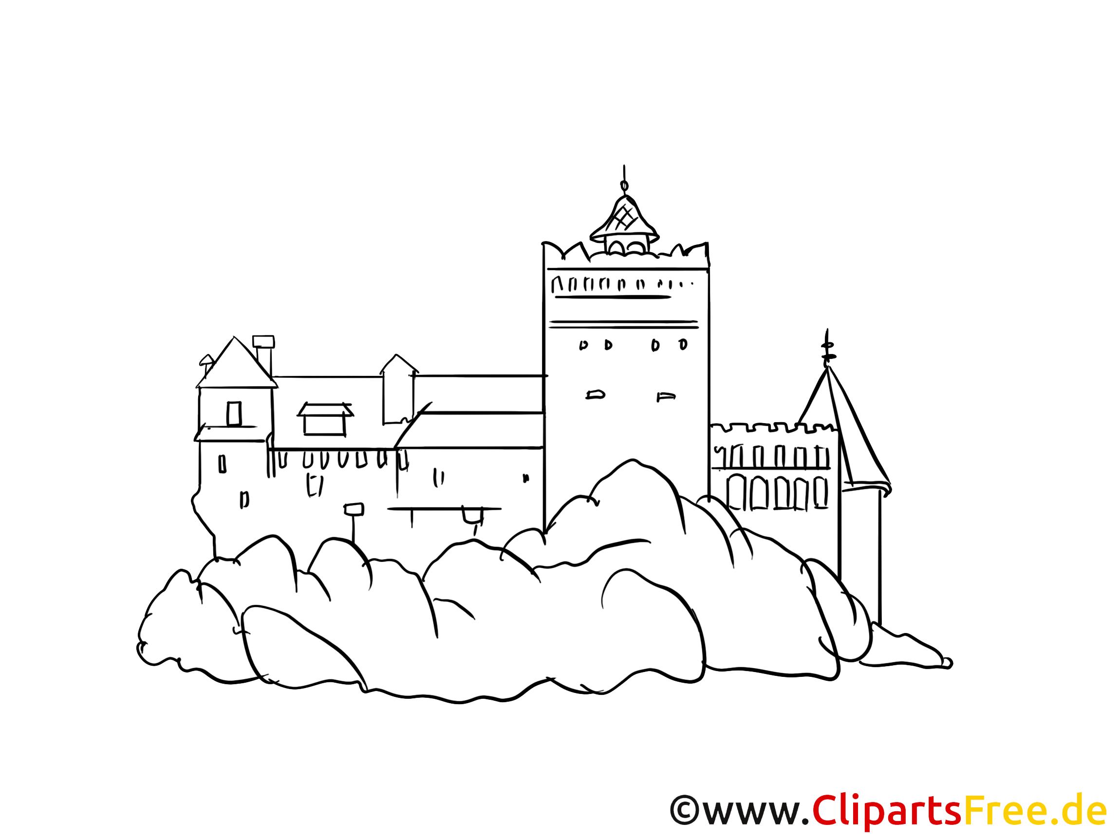 Château dessin à colorier - Fortification images