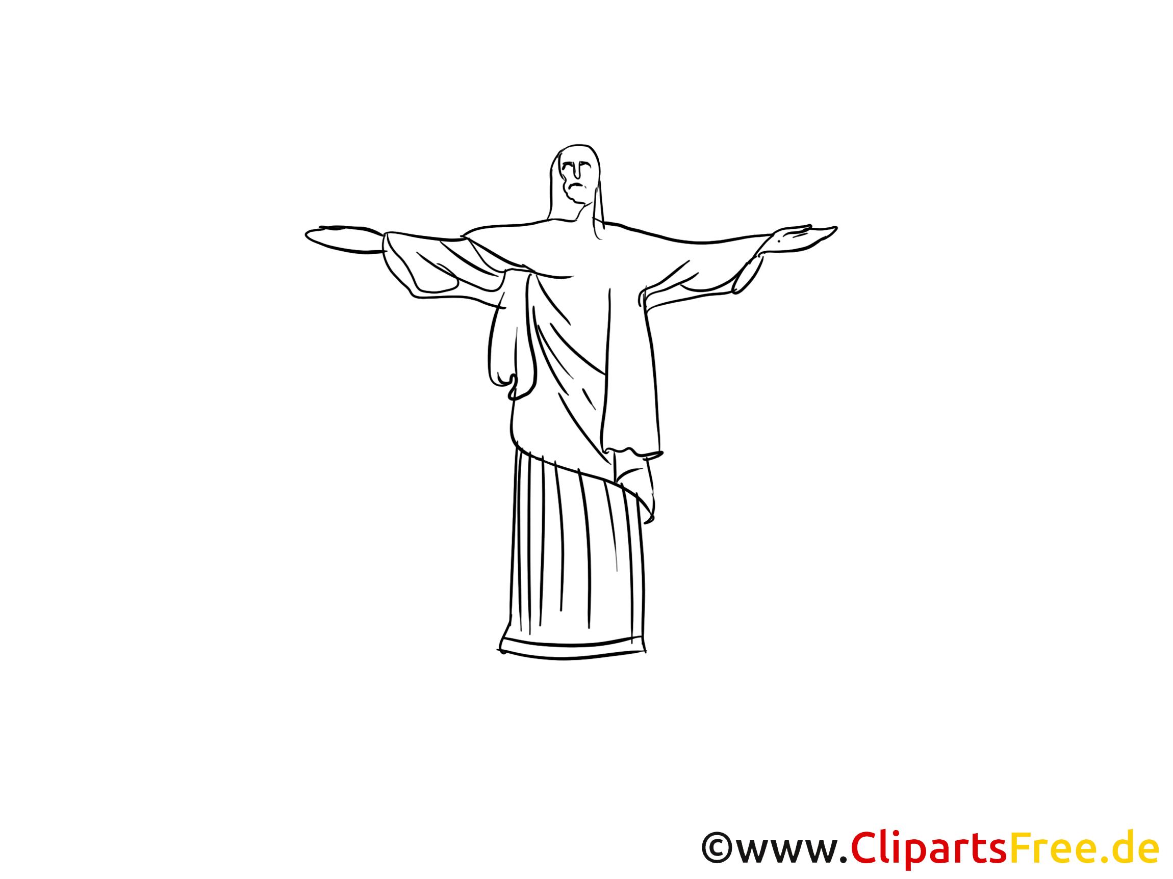 Dessin Christ Redempteur christ rédempteur à colorier - rio de janeiro clip art - voyage