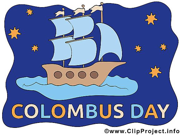 Christophe carte gratuite - Jour de Colomb clip art