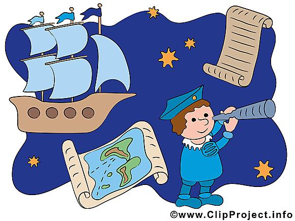 Colomb illustration gratuite - Découverte clipart