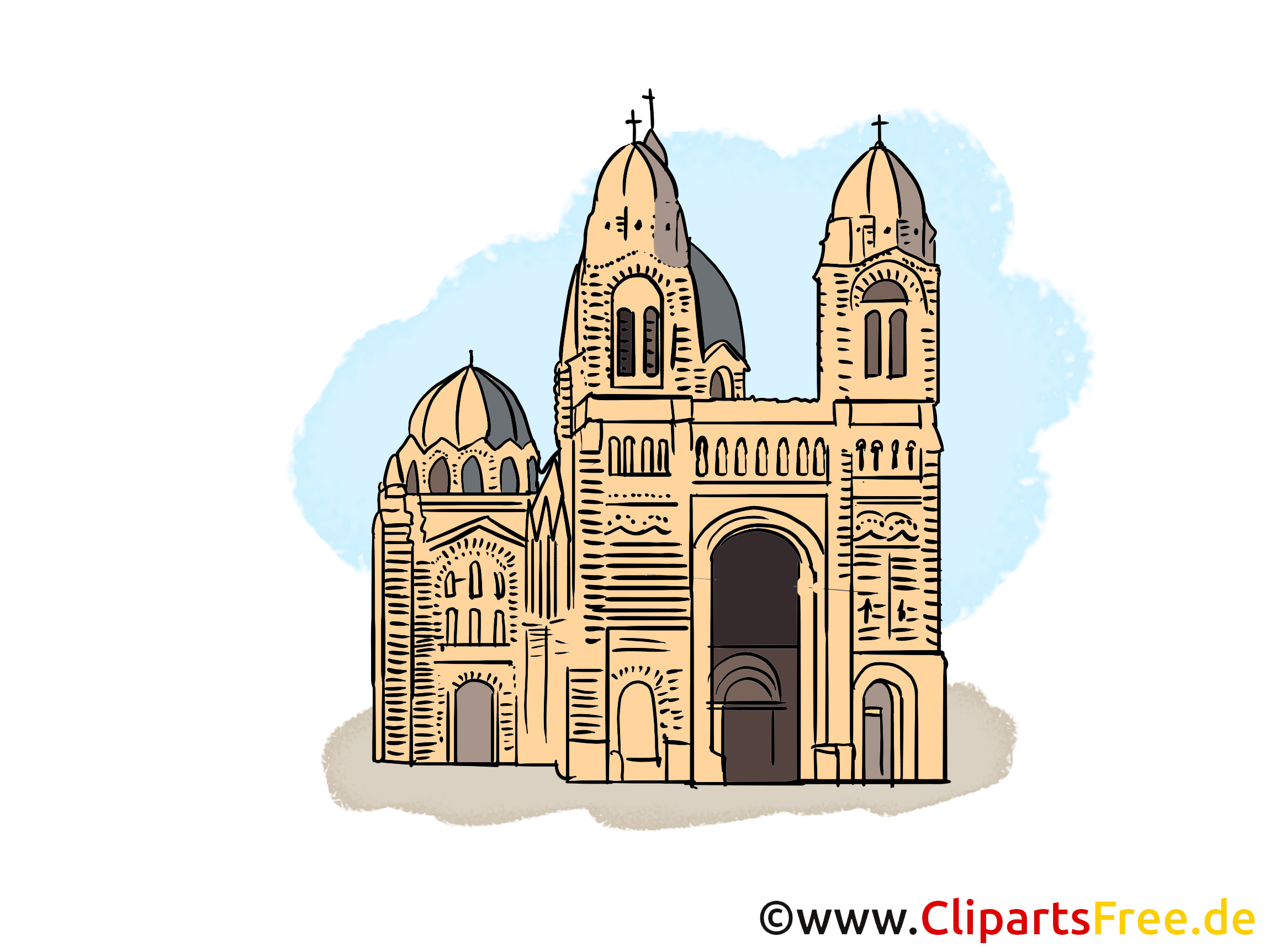 Église clip arts gratuits - Cathédrale illustrations