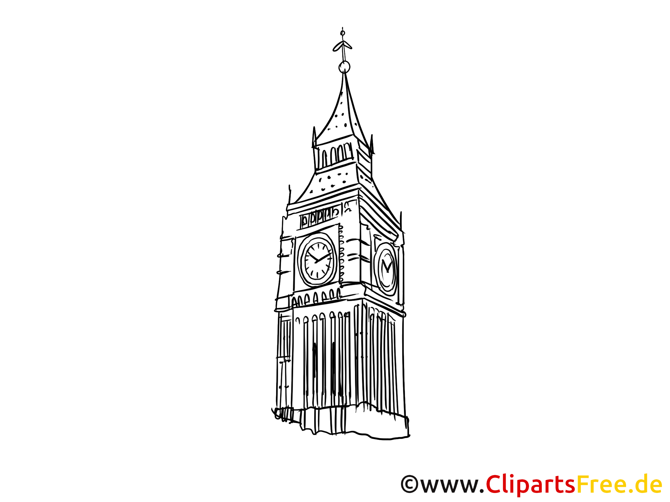 Londres coloriage - Big Ben image gratuite