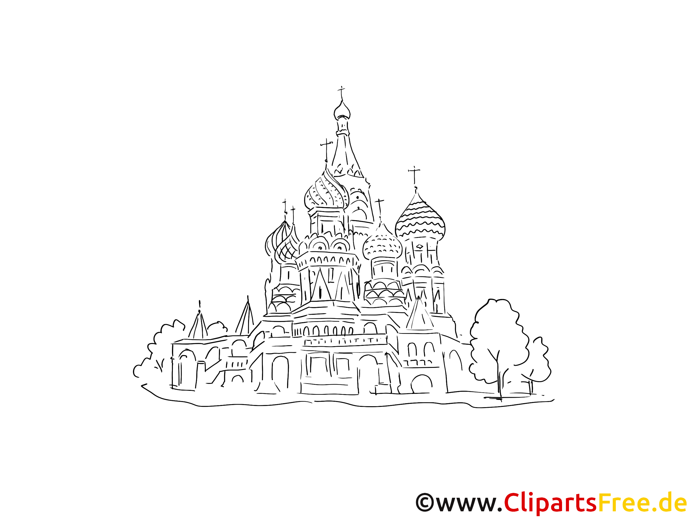 Coloriage Foot Russie.Moscou Coloriage Cathedrale Russe Images Gratuites Voyage Dessin