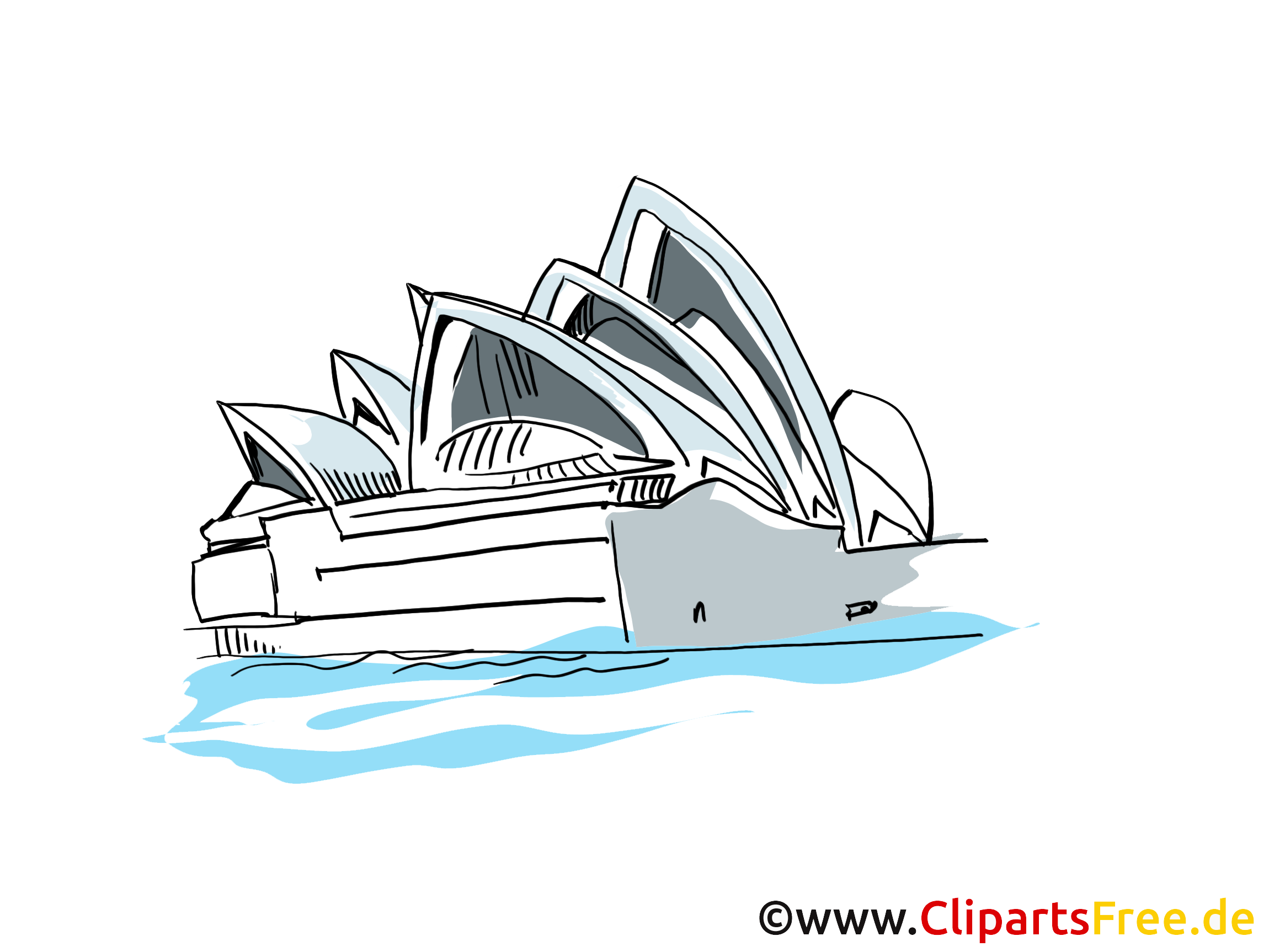 Opéra illustration gratuite - Sydney clipart