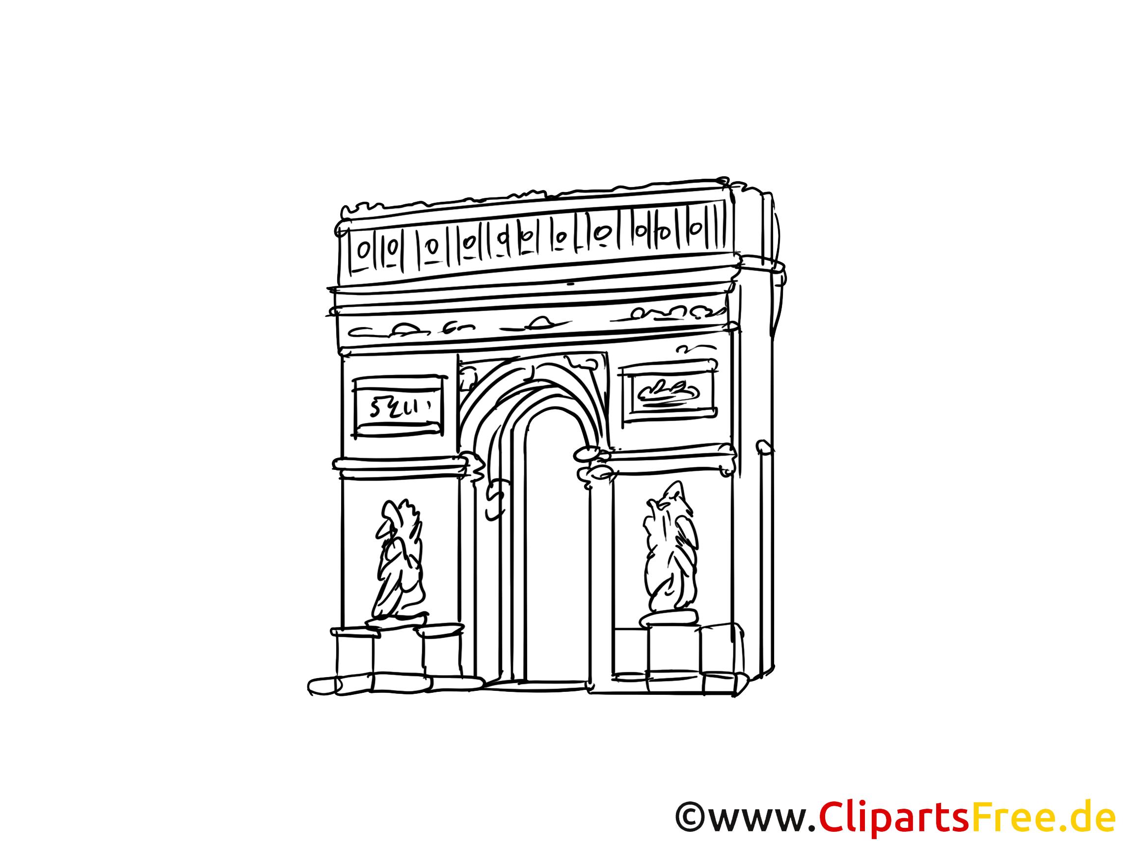 Paris clipart gratuit - Arc de triomphe images