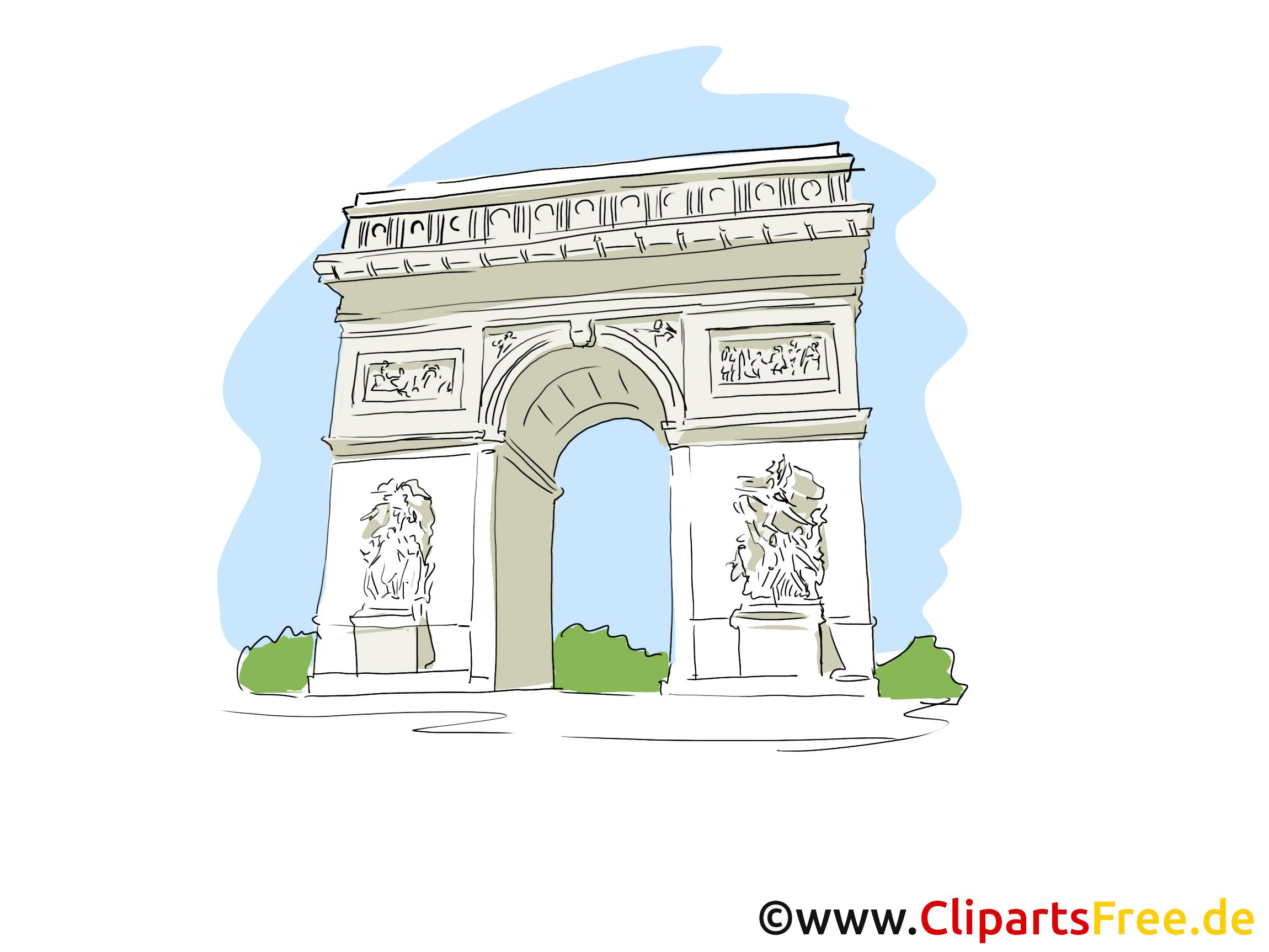 Paris images - Аrc de triomphe clip art gratuit