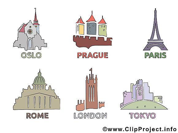 Paris Londres dessin - Prague Rome images