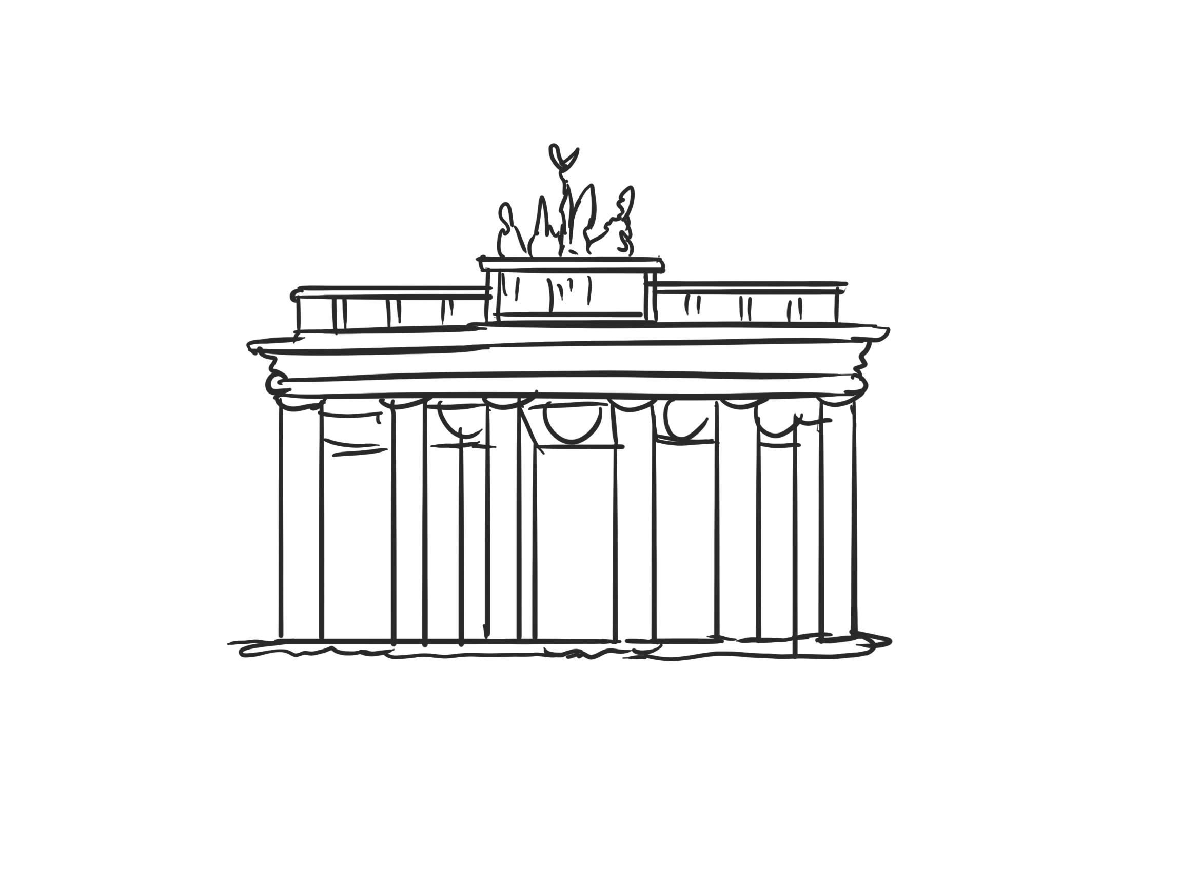 Porte de brandebourg dessins gratuits - Berlin clipart