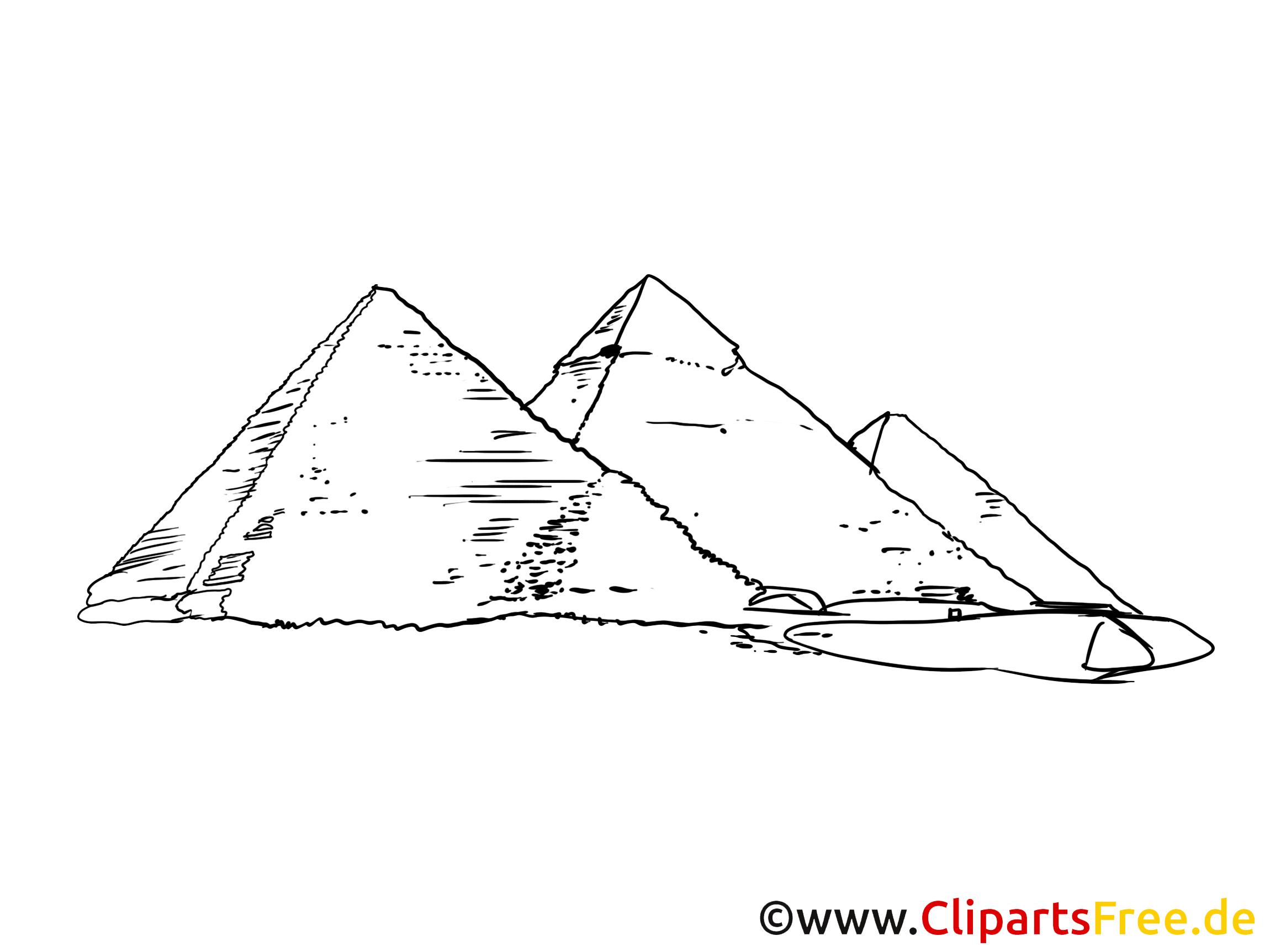 Pyramides carte gratuite - Egypte images gratuites