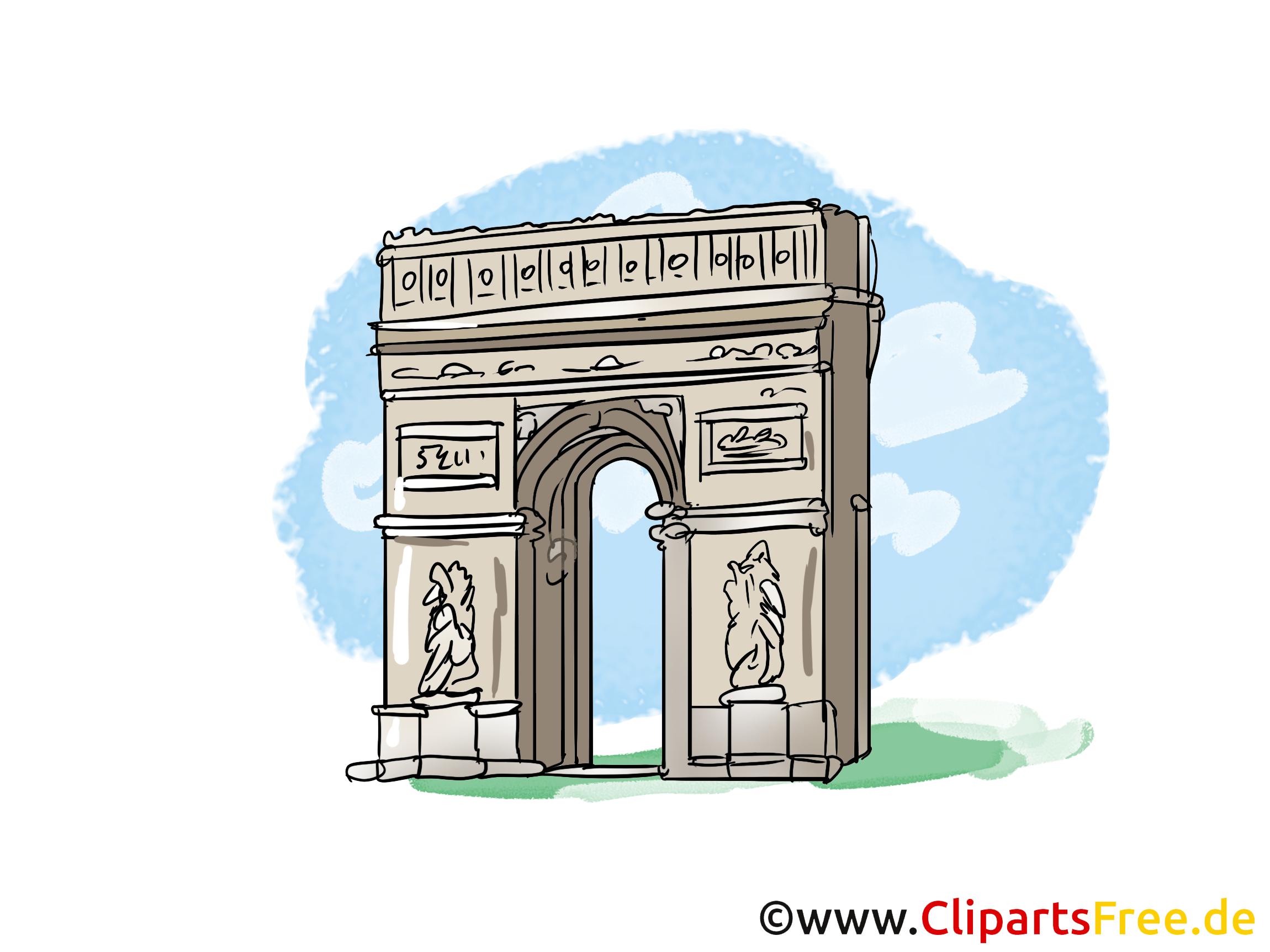 Аrc de triomphe clipart gratuit - Paris images