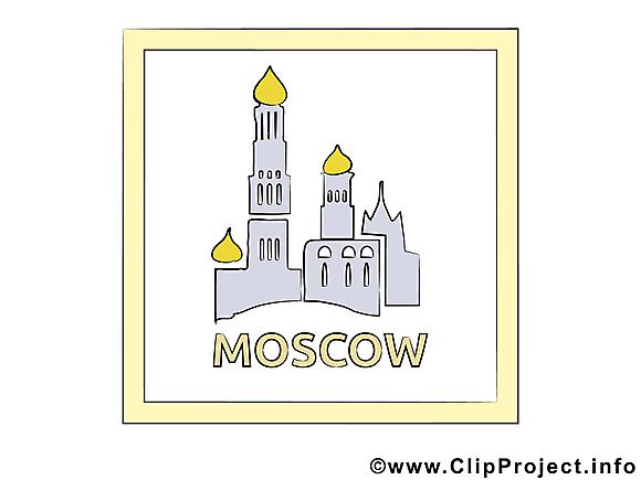 Russia illustration gratuite - Moscou clipart