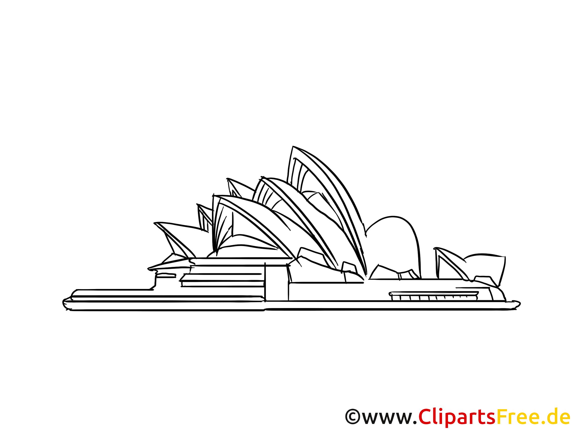 Sydney image à colorier – Opéra clipart