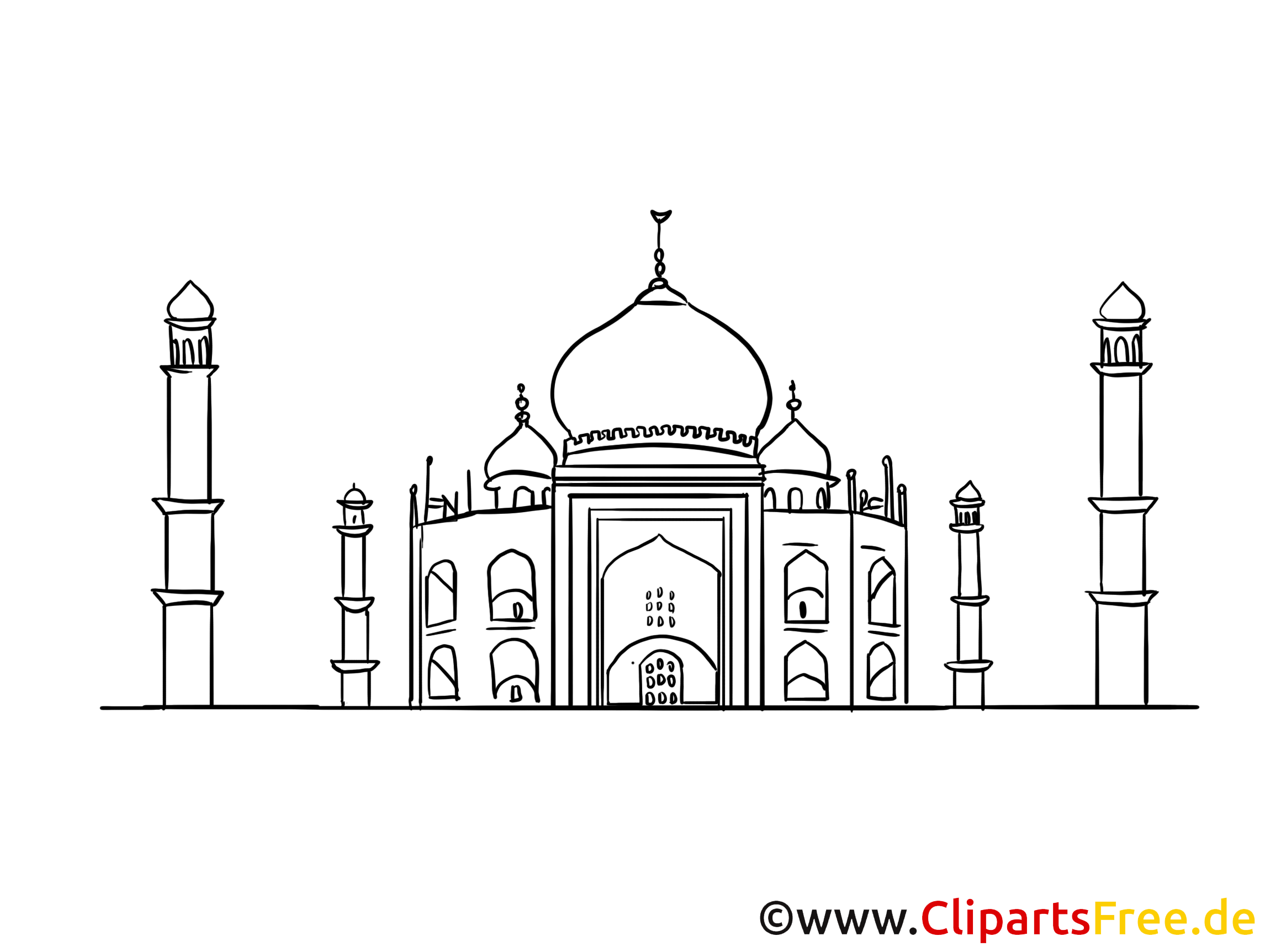 Temple à colorier - Inde image à télécharger
