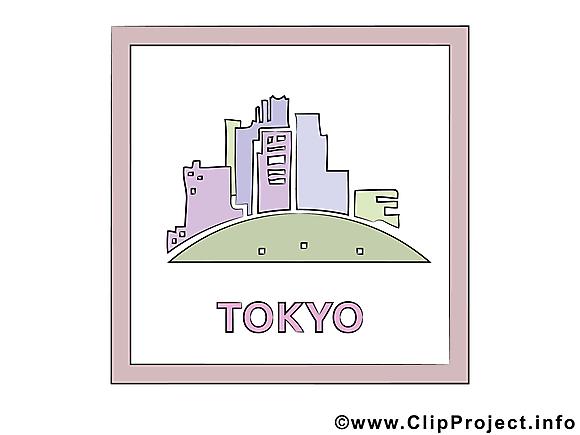 Tokyo dessin gratuit - Japon image gratuite