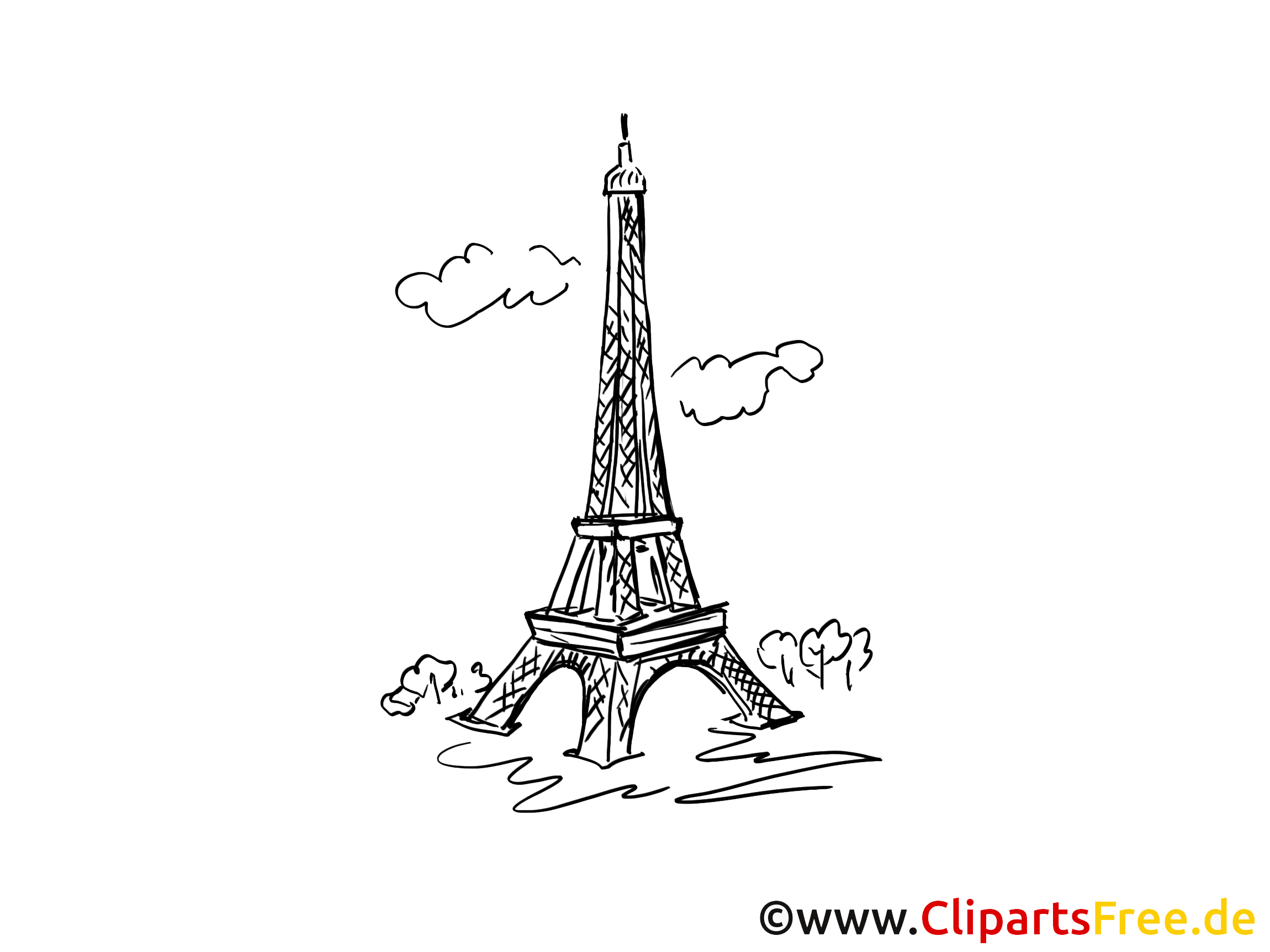 Tour eiffel coloriage - Paris dessins gratuits