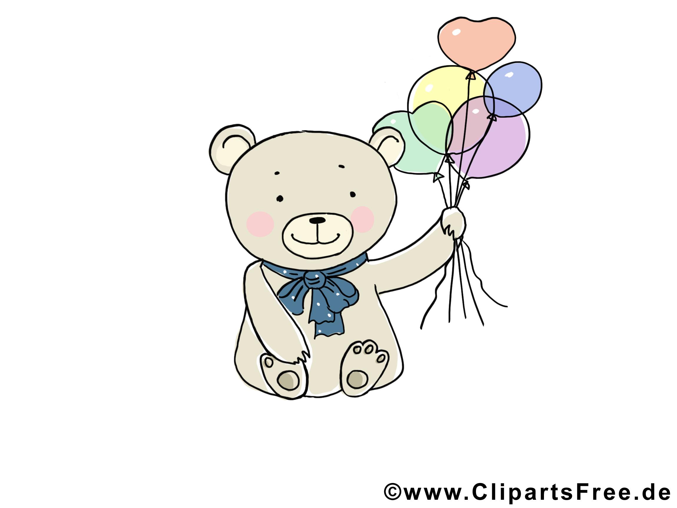 Ballons ours dessins gratuits – Animal clipart