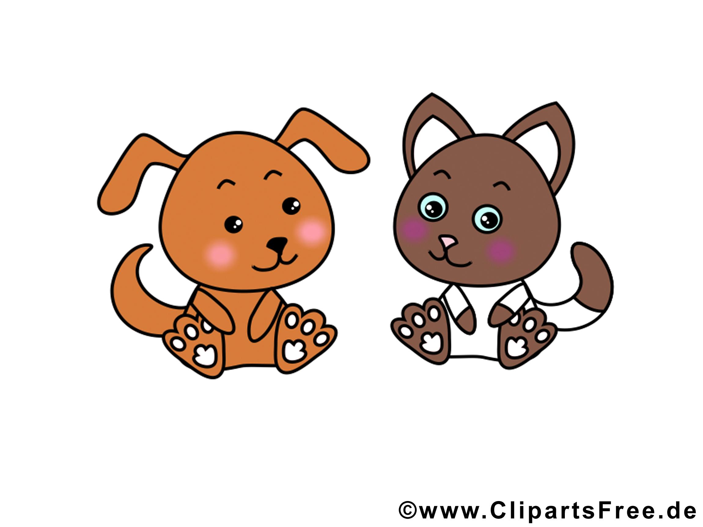 Chien chat images gratuites – Animal clipart