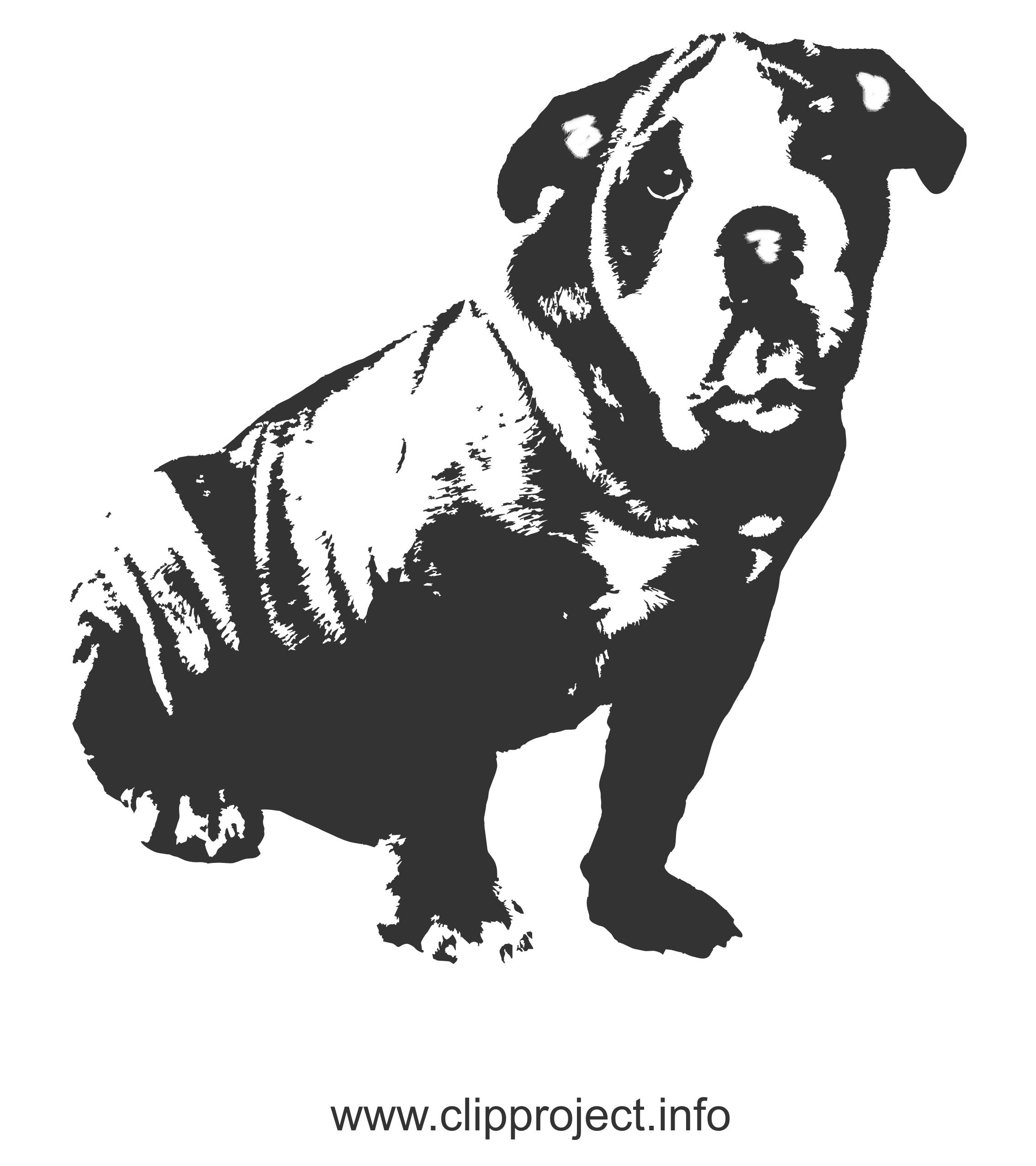 Chien clip arts gratuits – Animal illustrations