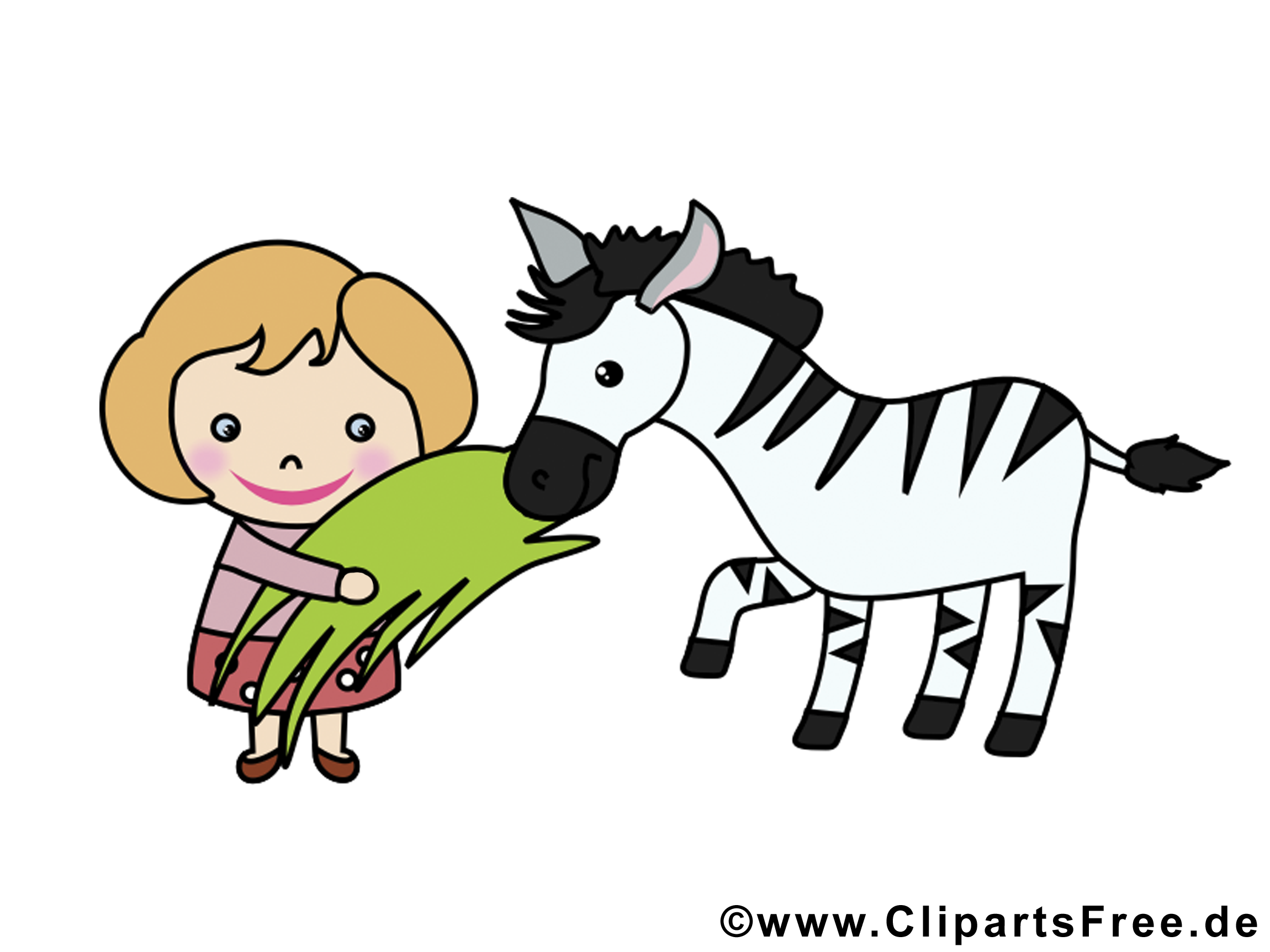 Fille zèbre dessin gratuit – Animal image