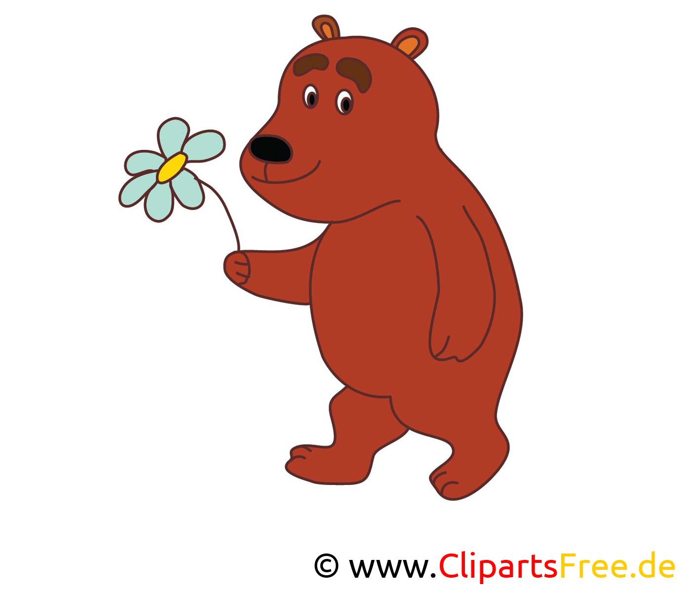 Fleur ours clip art gratuit – Animal images
