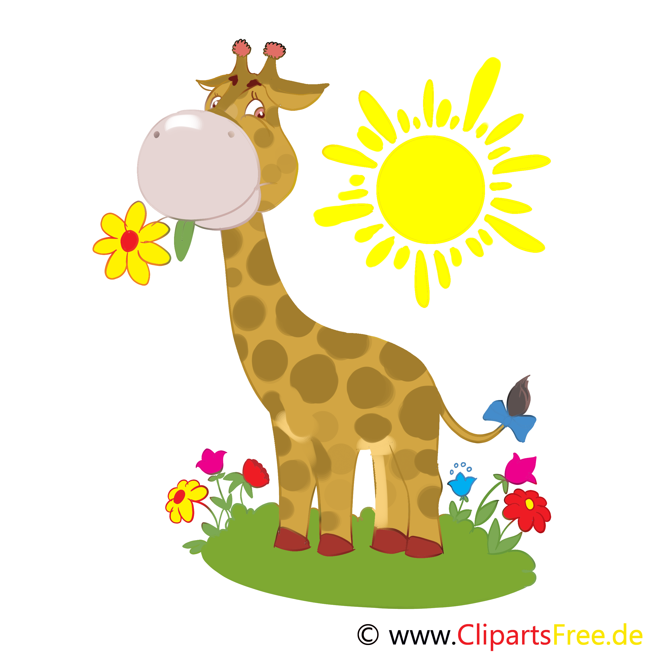 Girafe animal illustration à télécharger gratuite