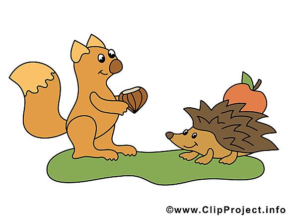 Hérisson écureuil clipart gratuit – Animal images