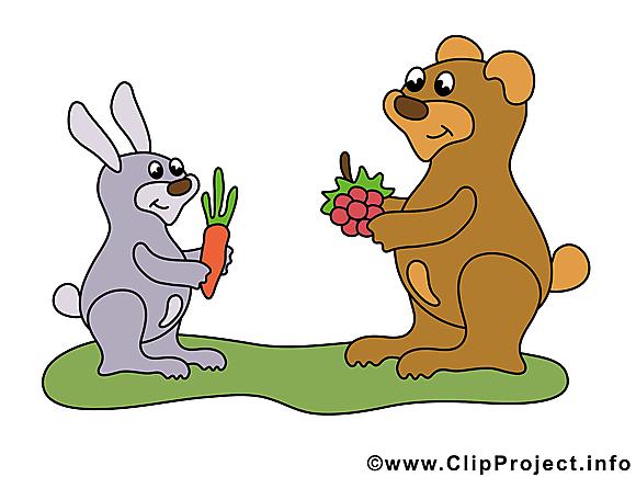 Lapin ours clip art gratuit – Animal dessin