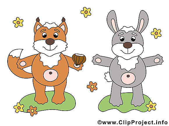 Lapin renard image gratuite – Animal clipar