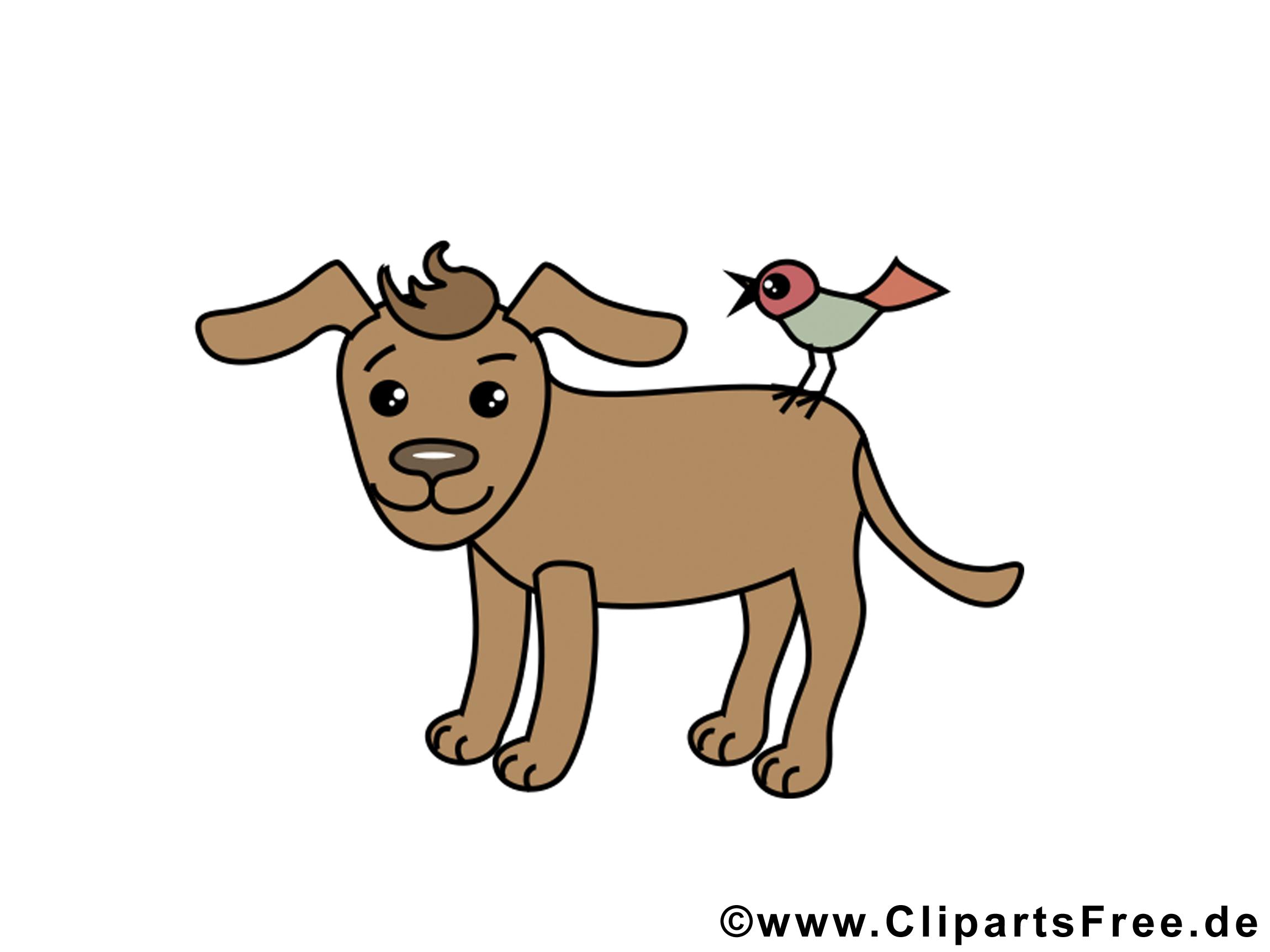 Oiseau chien clip art – Animal image gratuite