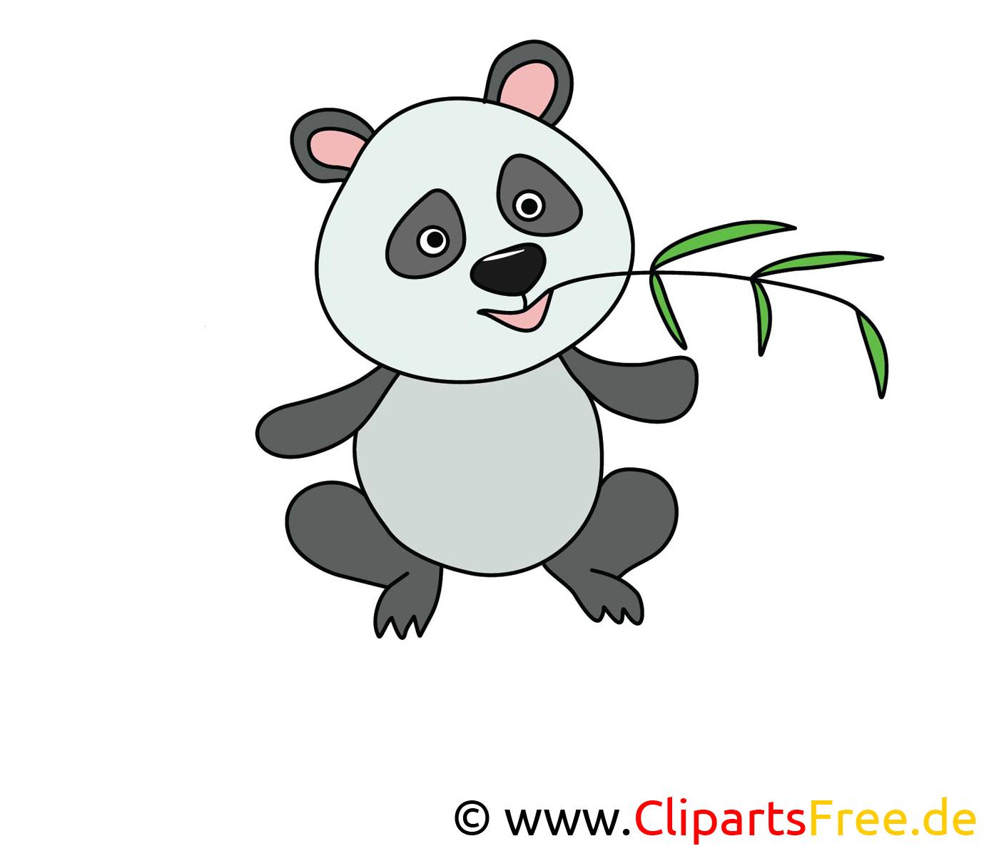 Panda clip arts gratuits – Animal illustrations