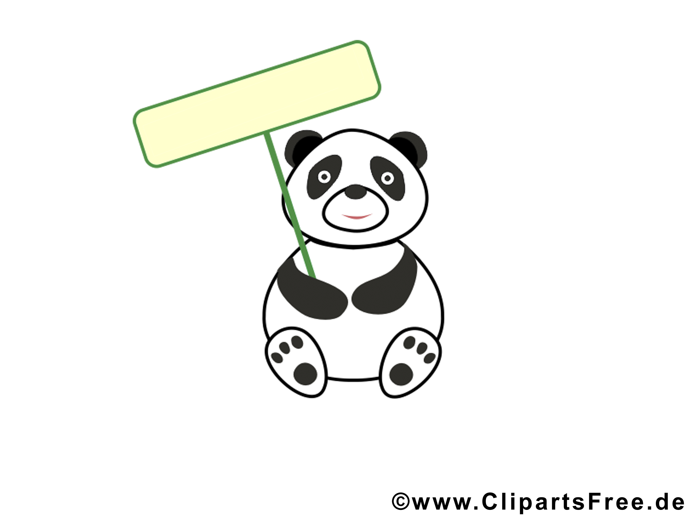 Panda cliparts gratuis – Animal images