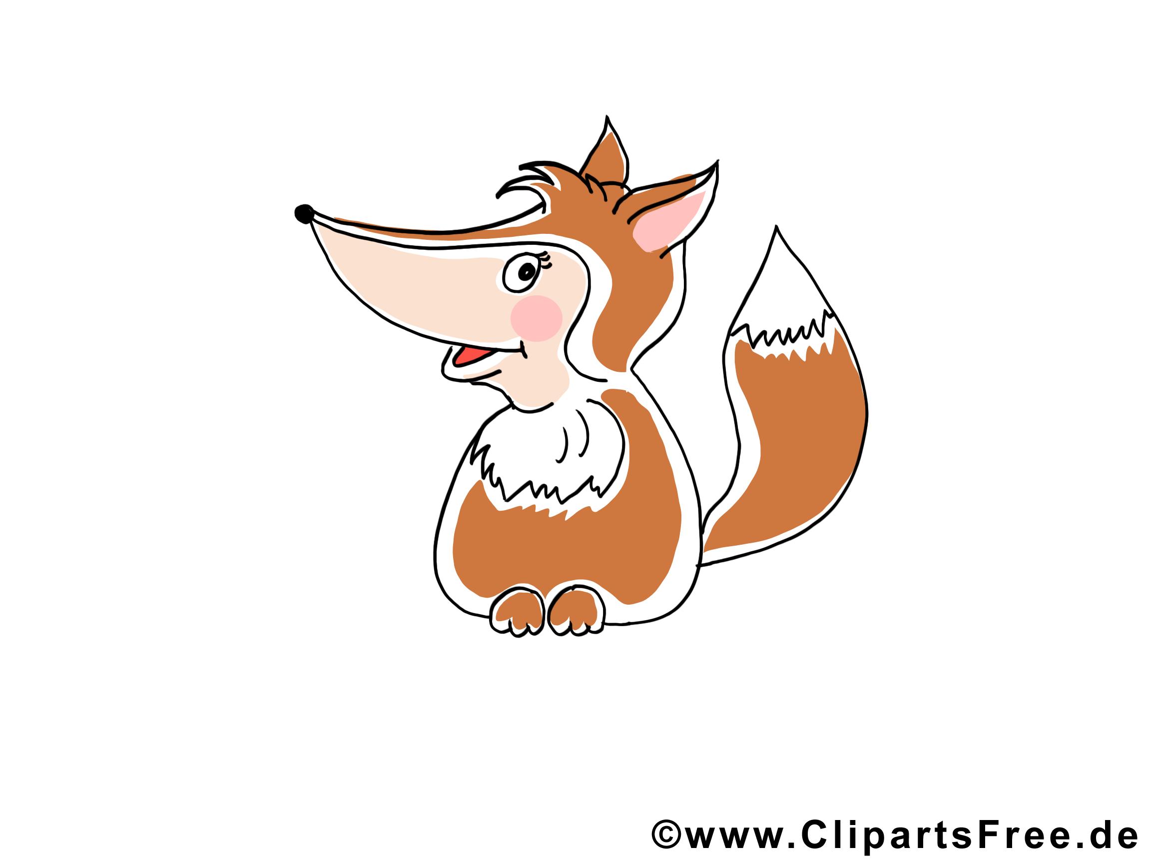 Renard cliparts gratuis – Animal images