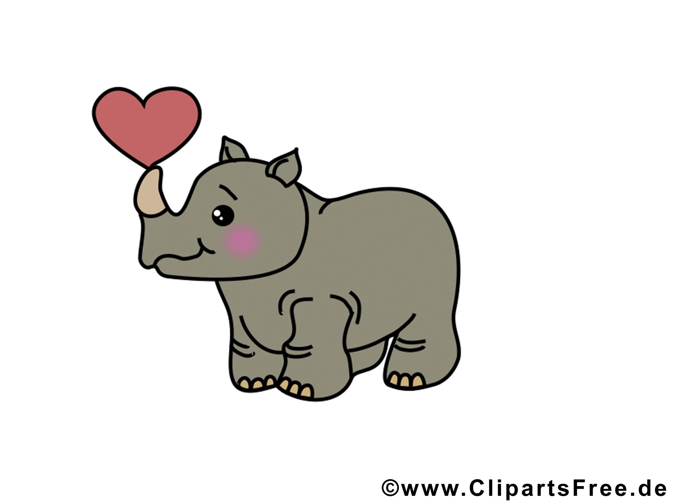 Rhynocéros dessin – Animal à télécharger
